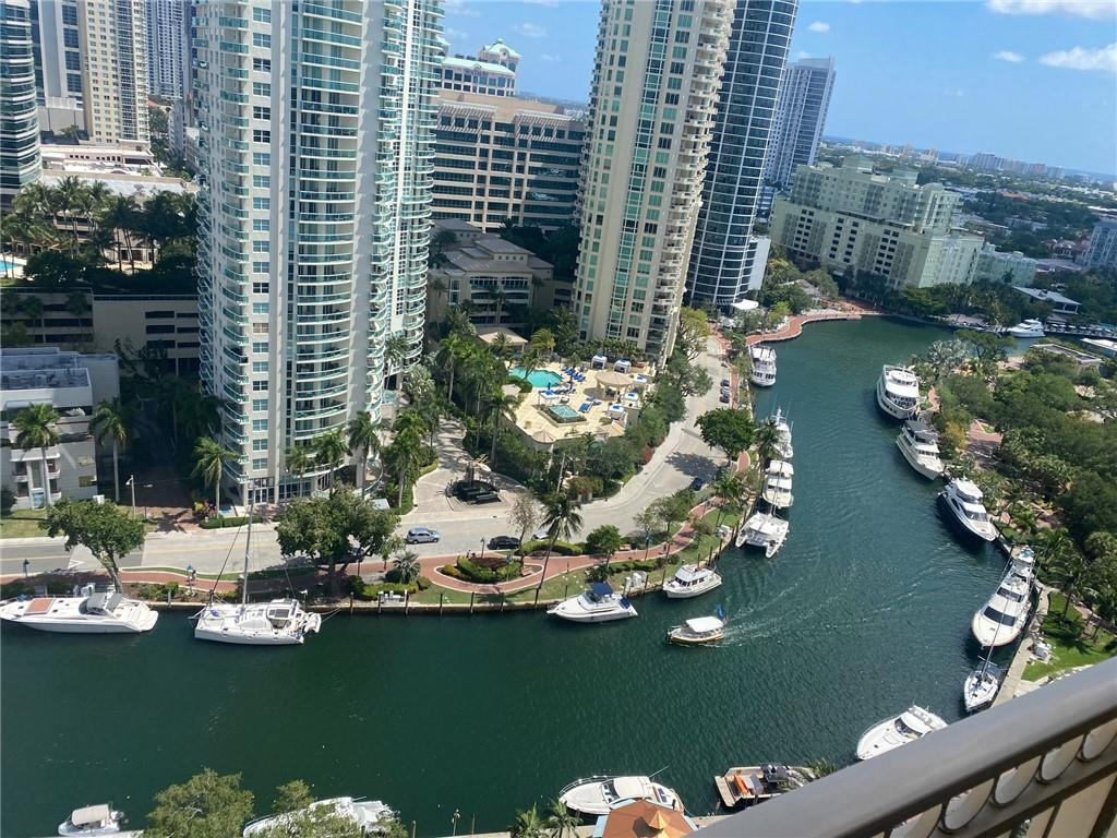 Gorgeous high floor unit in best line in the building. Frist time on the market. Sit on the balcony with your feet up overlooking water and boats passing by. Downtown living with a feel of sanctuary. Parks, water taxis, river walk right in front of the building. A few steps away to Las Olas, restaurants and entertainment. Fully equipped gym with cardio and weights, basketball court, racket ball court, sauna & spa, roof top pool overlooking the city & ocean with 360 views. Furniture negotiable. Easy showing and communication. Owner is moving out.