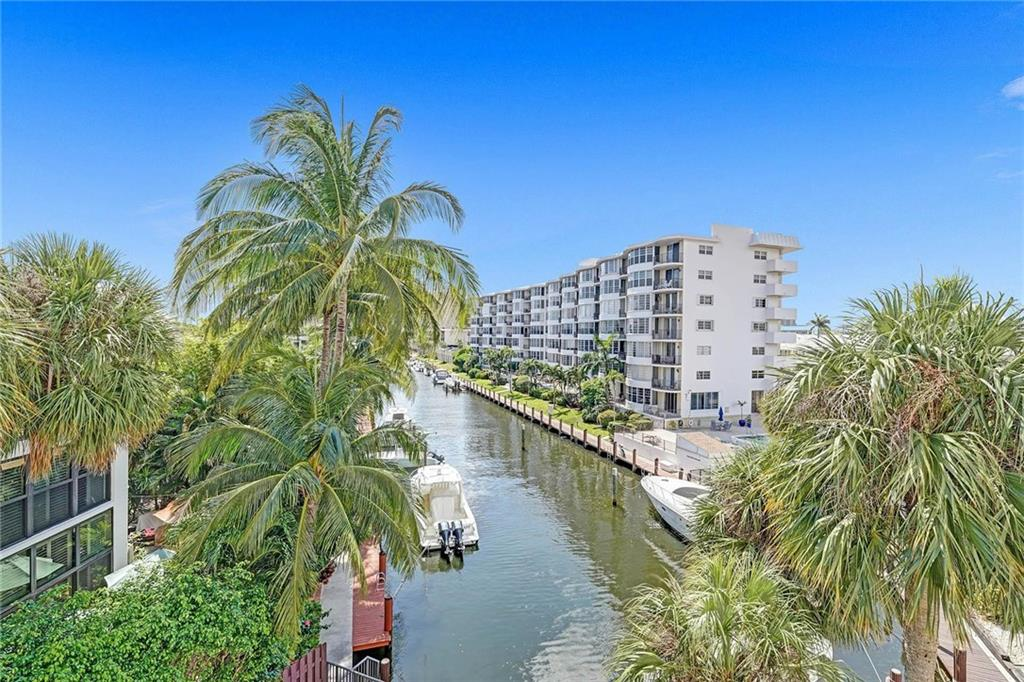 Amazing Location! Beautiful Water Views! This property is less than 10 minute walk to Downtown Lauderdale By the Sea, Amazing Restaurants and Shops. The unit offers Electric Hurricane Shutters, 2 spacious bedrooms, 2 spacious bathrooms, walk-in closets, assigned parking spot, extra storage room, new AC unit installed September 2020, private balcony overlooking the intercostal and pool, 3 Boat Docks available for rent from HOA, Ocean access and available to rent upon purchase. A great opportunity to be in one of the best locations in Fort Lauderdale and near the beach.