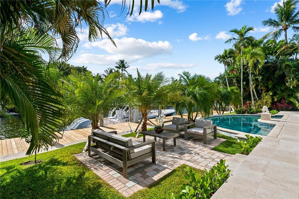 Available NOW, OCTOBER and NOVEMBER ONLY. Charming WATERFRONT Key West style residence located on very desirable south of LAS OLAS ISLES.. Recently updated, impeccably maintained and fully furnished residence is walking distance to the beach and Las Olas shopping & dinning. The most wanted East exposure, expansive outdoor area with a heated pool, this residence is perfect for vacation. Brand new dockage with 90ft waterfront. BRING YOUR BOAT. Take your bike to beach or do kayak right front of your home how about a barbecue in the evening with the most beautiful water views? Endless opportunities. Taxes and cleaning fee will be added to rent amount.