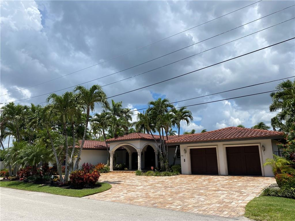 Look no further! Beautiful 3,200sq ft.AC, 3,800 sq ft TA, one story home with 110' of deep water dockage. This home has 3 Bedrooms, 3 Baths, and wonderful open space. A lovely fully covered patio is perfect for entertaining or lounging by the pool! Only two lots from the point of the intercoastal, perfect for access to the ocean! No Fixed Bridges! Move in ready. Easy to show