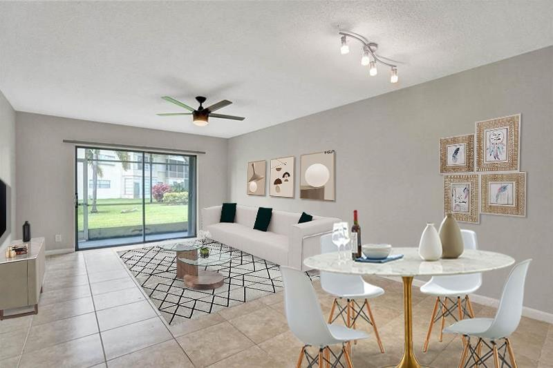 Feel at home in this spacious beautifully remodeled 2/2 located in the 55+ community of Lauderhill East framed in tons of natural light. This condo features tile throughout, fresh paint, renovated spa-like bathrooms, a bright white kitchen, lots of storage space, and low HOA fees. The living room includes a large sliding back door which leads to the enclosed patio. Sit and enjoy a nice cup of coffee or tea in the morning as the sun rises overlooking beautiful landscaping! The community features many onsite amenities including a pool, gym, community room, and library. This condo has the perfect location with just a 5-minute drive to the golf course, tons of shopping and fine dining! Association requires a minimum of 680 Credit Score / $45,000+ income a year.