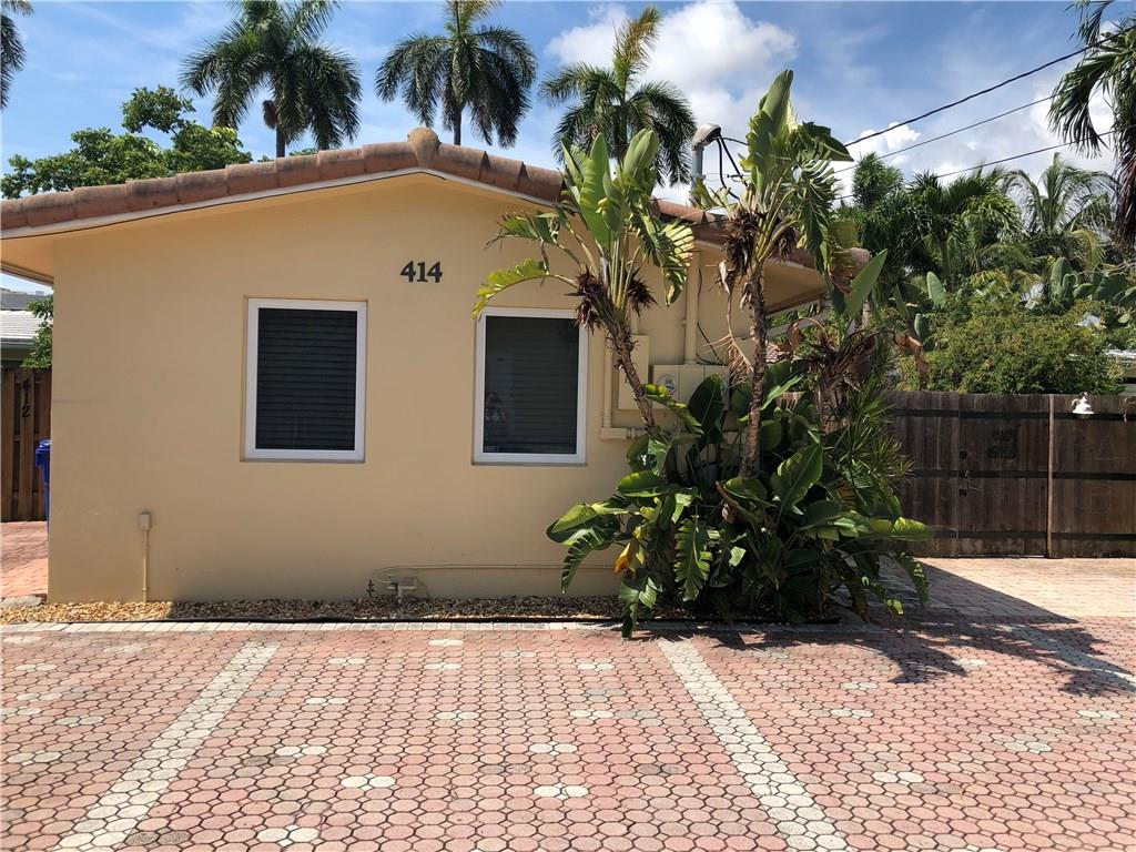 Updated 1 bed 1 bath front unit of a duplex in downtown Fort Lauderdale near the Broward County Courthouse and Las Olas Blvd. Unit has tile flooring throughout, hurricane impact windows and doors, granite counter tops and stainless steel appliances. There is also a cozy yet spacious private patio and washer/dryer in unit. Square feet is an estimate.