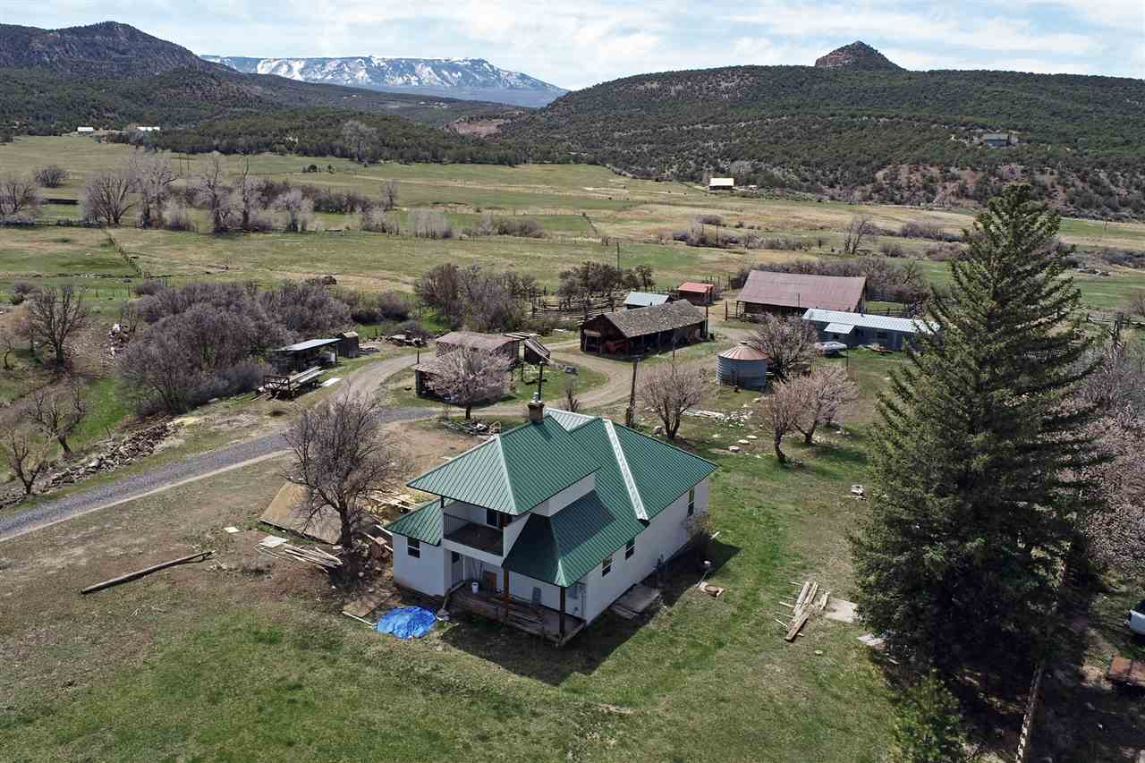 One of a kind Colorado ranch property has it all. 119+ irrigated acres, springs, fenced and crossed fenced pasture/grazing grounds, outbuildings, corrals, cellar, and Spring Creek running through it all. An ongoing complete remodel of a 1472 sq ft, 3 bedroom, 2 bath, new appliances, flooring, electric, plumbing, bath fixtures thermo windows/door, basement, and more with well-designed floor plan. Surrounded by Grand Mesa, landmarks such as the Beehive, Land's End, the Battlement and Sunnyside mountain ranges and the Plateau Valley. Wildlife viewing and hunting opportunities are plentiful. Outdoor Colorado recreation in every direction. Within minutes to historic towns of Collbran, Molina, and Mesa for residential needs and services. Gorgeous views, privacy and additional building spots for a dream home.
