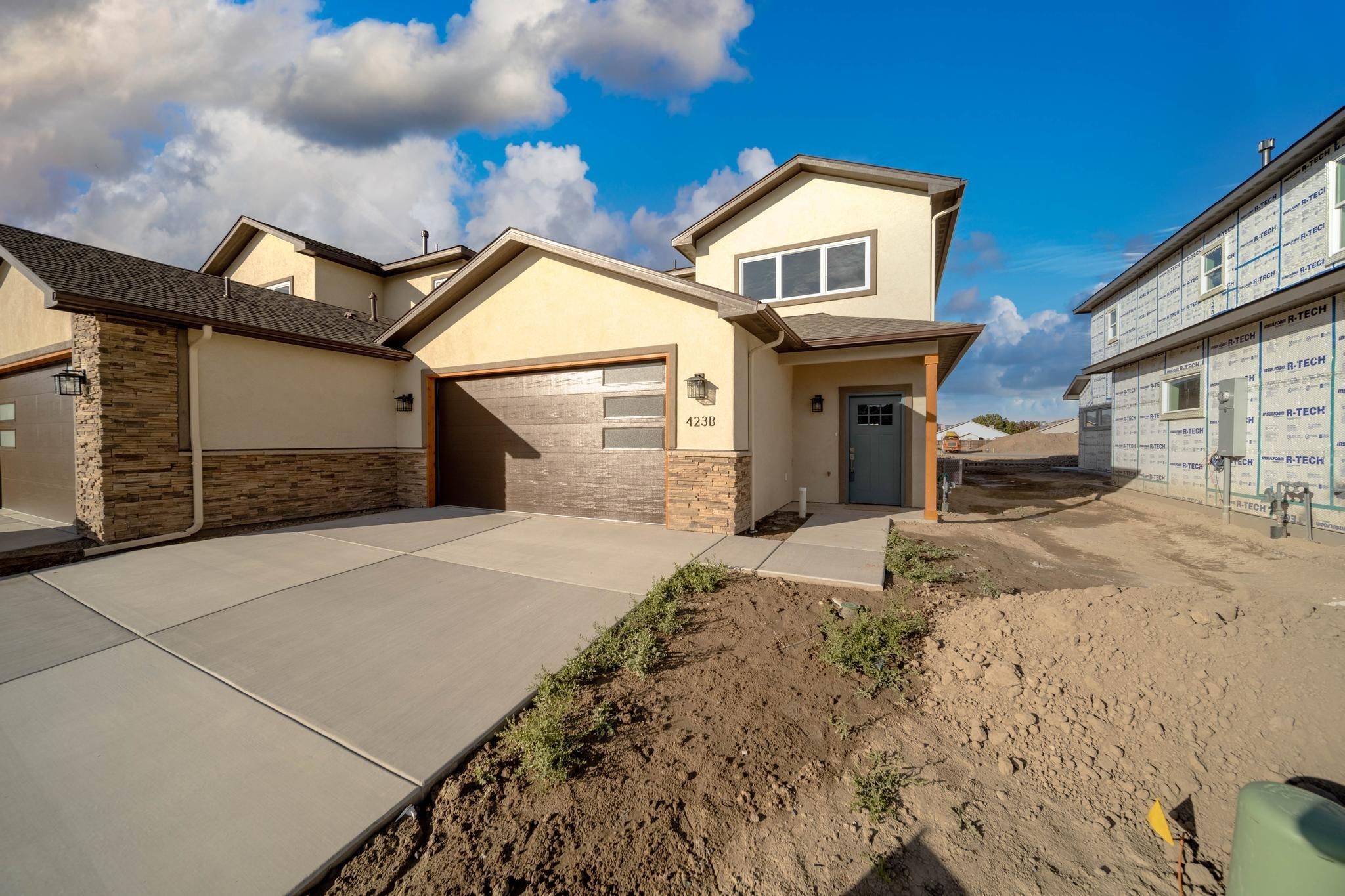 New construction -attached single family home in West Branch subdivision. Estimated date of completion August 20th, 2021. Features include -ground floor master bedroom suite, walk in pantry, custom modern barn door closets, large curbless shower, soaker tub, gorgeous Mesa view from office, wired for electric car outlet in garage.