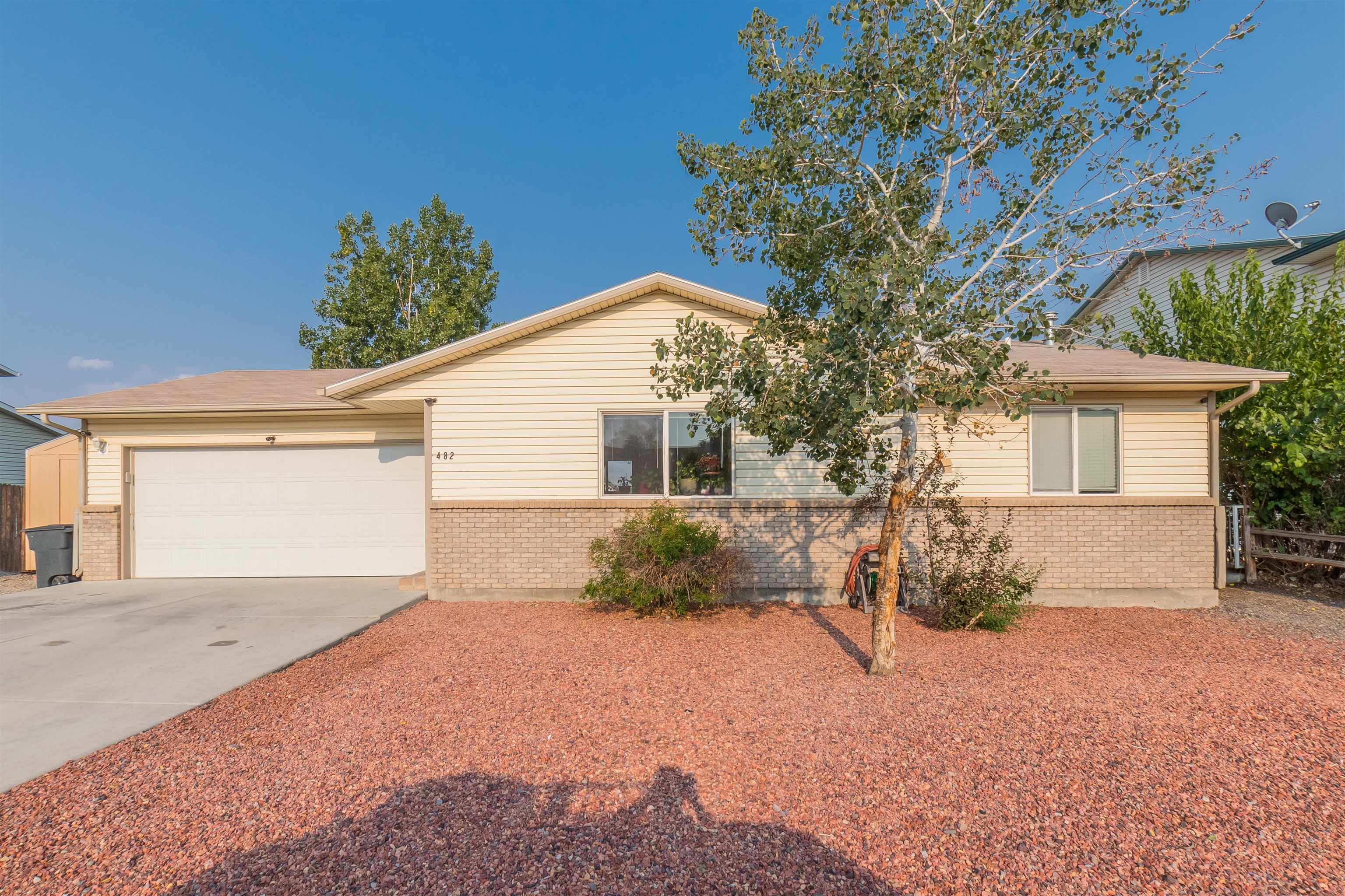 Lots of room in this beautifully maintained, move-in ready, Ranch home with walkout basement.  Main floor has 2 bedrooms upstairs with own living area while basement has 2 non-conforming rooms and family room as well! The Xeroscaped landscaping frees up your weekends!  With RV Parking, a  large two-car attached garage, and a large shed for all the extras.