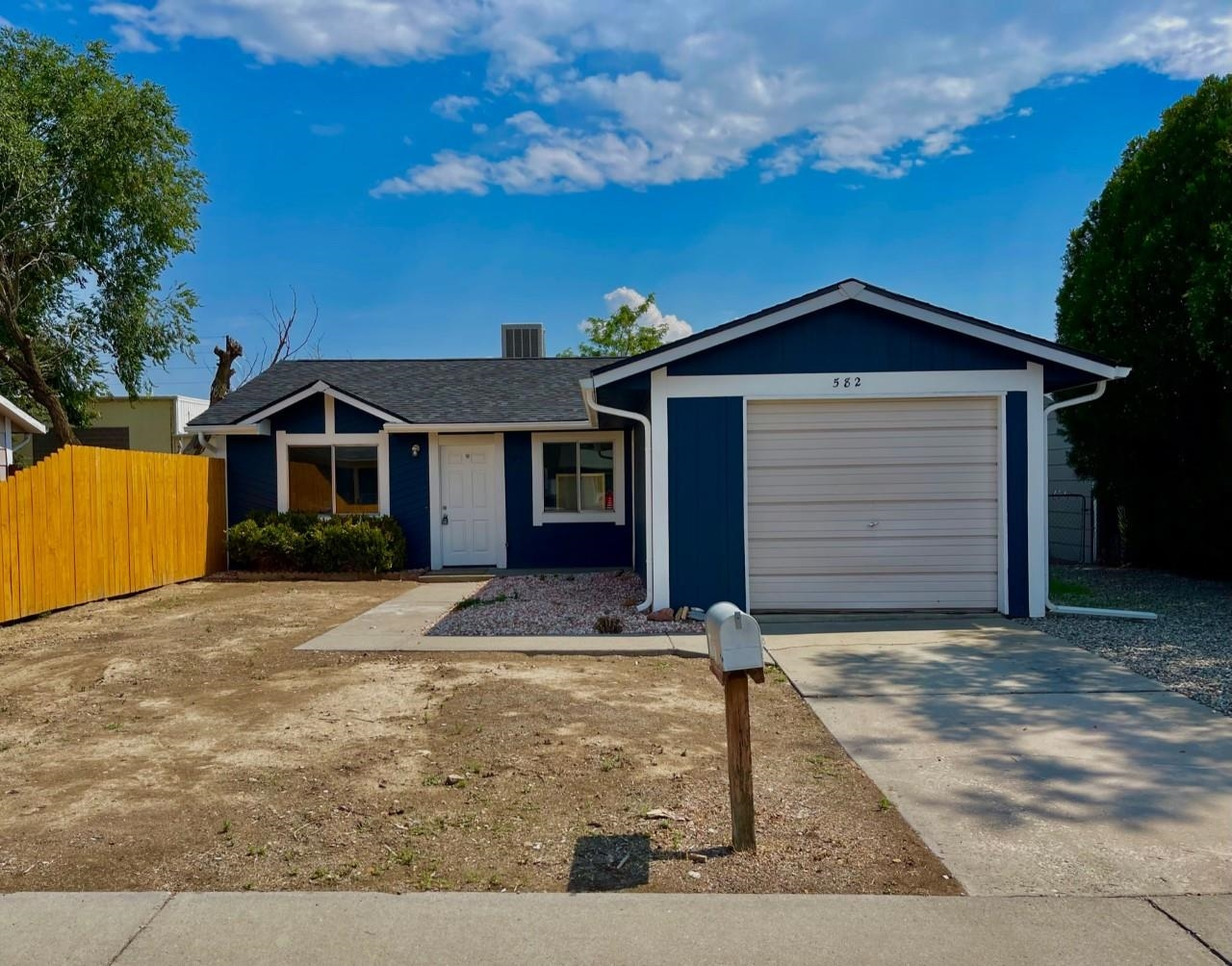 Nicely remodeled home! Remodel includes all new kitchen cabinets and new stainless appliances, new vanity in the bathroom, new roof, new evaporative cooler, new door to back yard and of course all new flooring and paint!. Tankless water heater.  Sellers are licensed RE Brokers in Colorado.