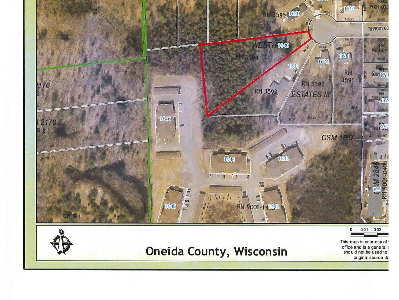 Looking to build? This ready to build 1.6 acre, single family lot sits at the end of a quiet cul de sac. The wooded lot offers a country feel with city conveniences such as city sewer/water, proximity to shopping, medical facilities, Located on Rhinelander's west side with easy access to Hwy 47/ 8.