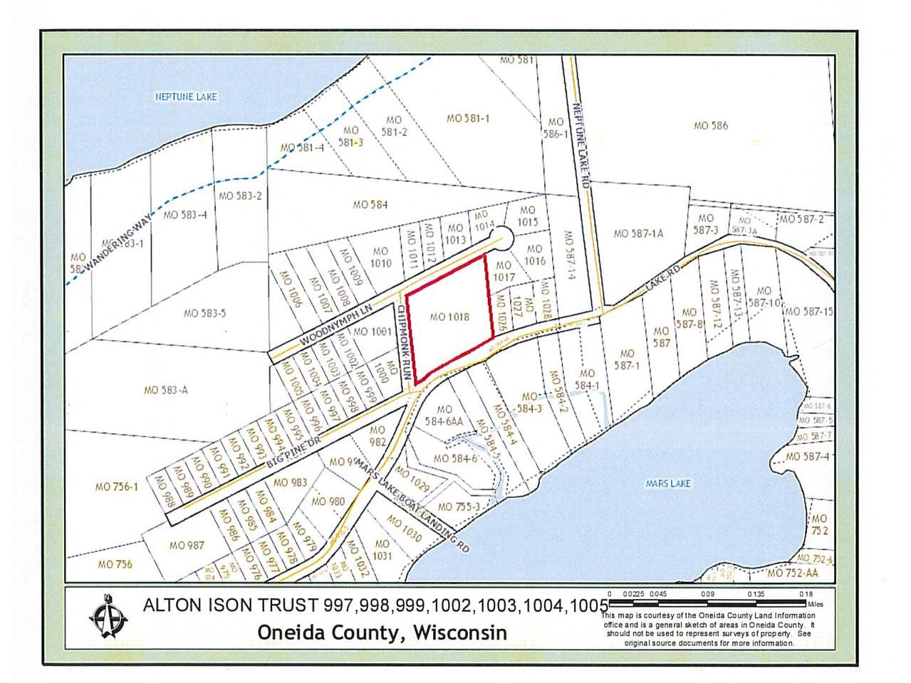 Approximately 4.17 acre building lot zoned single family residential located in a quiet country neighborhood between Rhinelander, Three Lakes, and Crandon. The parcel is within walking distance to the Mars Lake boat landing with Neptune and Venus Lakes nearby. Utilities include electric, gas, telephone, and cable.