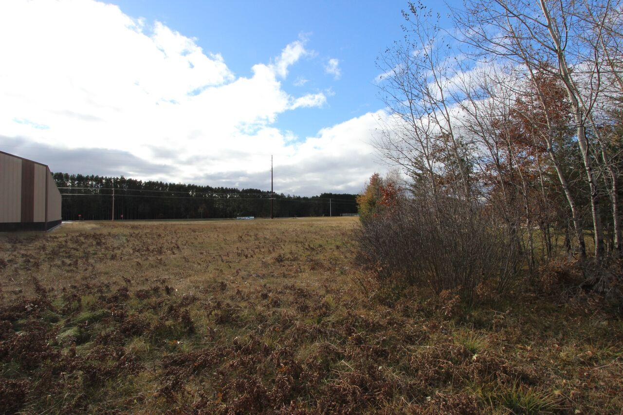Woodruff Commercial Property that is already cleared and ready for anything! Located in the Woodruff, Arbor Vitae Minocqua area. Easy access off Hwy 47. This parcel is ready to go for any business to be built!