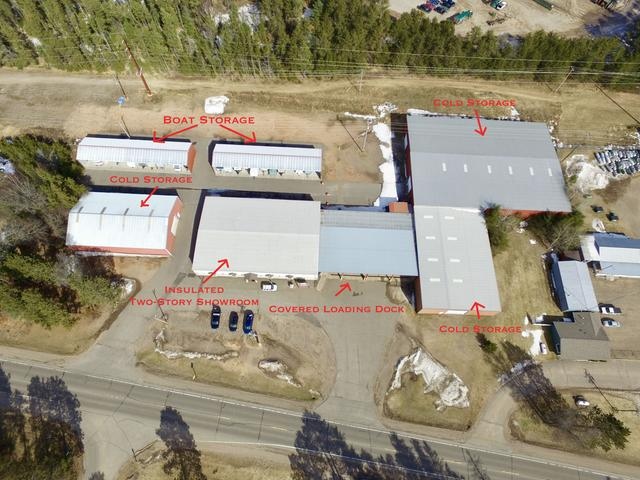This rare business opportunity on Hwy 47 near Hwy 51 and County Rd J in Minocqua, WI features 630 feet of road frontage along with 4.46 acres and tons of traffic traveling from Minocqua, St. Germain, Woodruff, Arbor Vitae, and Eagle River areas. Close to the busiest intersection in this area, this is a perfect location for all types of businesses. Offering over 43,000 square feet of storage space, including 10,800 square feet of heated space that's currently used as Age's Past Antique Mall with a loading dock attached. The remaining buildings are cold storage and used to store boats and RVs, as well as a seasonal flea market in one building. There's also a large road sign and an asphalt loading zone. Come visit today!