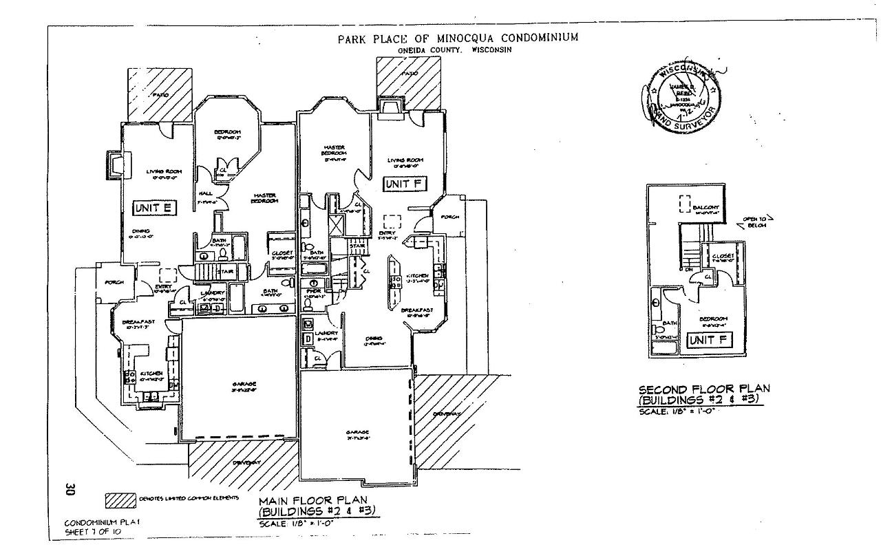 Park Place Condominiums of Minocqua is highly sought after. Well maintained grounds, black top drive, and close to town now offer Building Lot 3 E & F to be developed. The existing units are built of high quality and sell quickly when available. This is the perfect opportunity for a developer or builder to make the best of their investment. These duplex units are few and far between and would sell in a heartbeat.