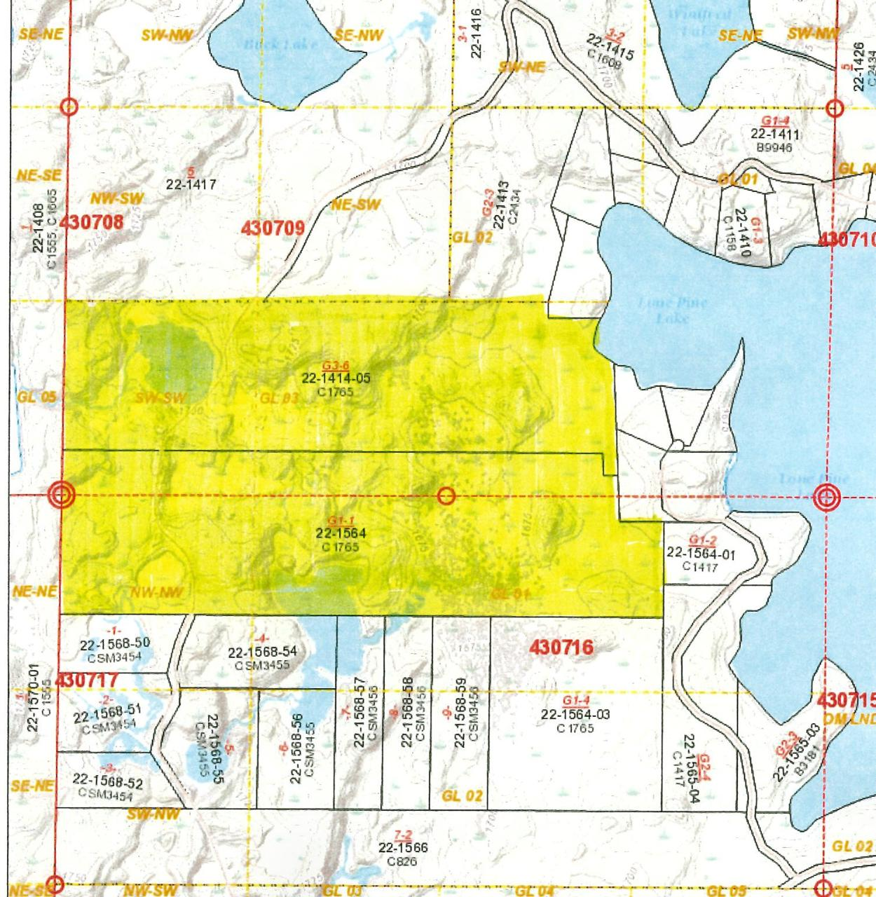 Presque Isle Sports Paradise - 190 acres of managed forest lands numerous food plots for wildlife multiple elevated deer stands, ponds and flowages for waterfowl, covered road for ruffed grouse. There is also 400' of frontage on Full Rec Lone Pine Lake, a fantastic managed fishery. The lake frontage is undeveloped but offers a spot for a pier. There are miles of traks and even a 24x40' pole barn to store your equipment and toys. The acreage also abuts the Catherine Wolter Border Lakes State Natural / Wilderness Area granting walking access to 1000's of acres of wild groves and private lakes. All types of wildlife abound on this rare tract. Private Road Access. Special assessments for road use. All measurements are approximate, Buyer to verify.
