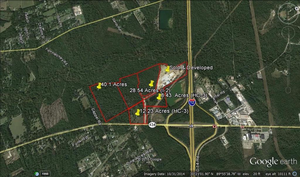 Terreno por un Venta en HWY 434 LOT 3 Highway Lacombe, Louisiana 70445 Estados Unidos