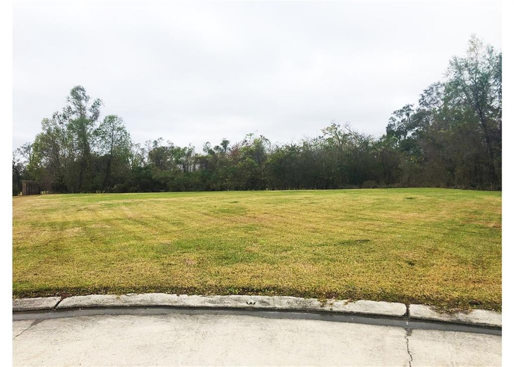 Large lot in cul de sac surrounded by million dollar homes!   Lot sits on pond and has views of Belle Terre Country Club's Golf Course.  Come build your dream home!