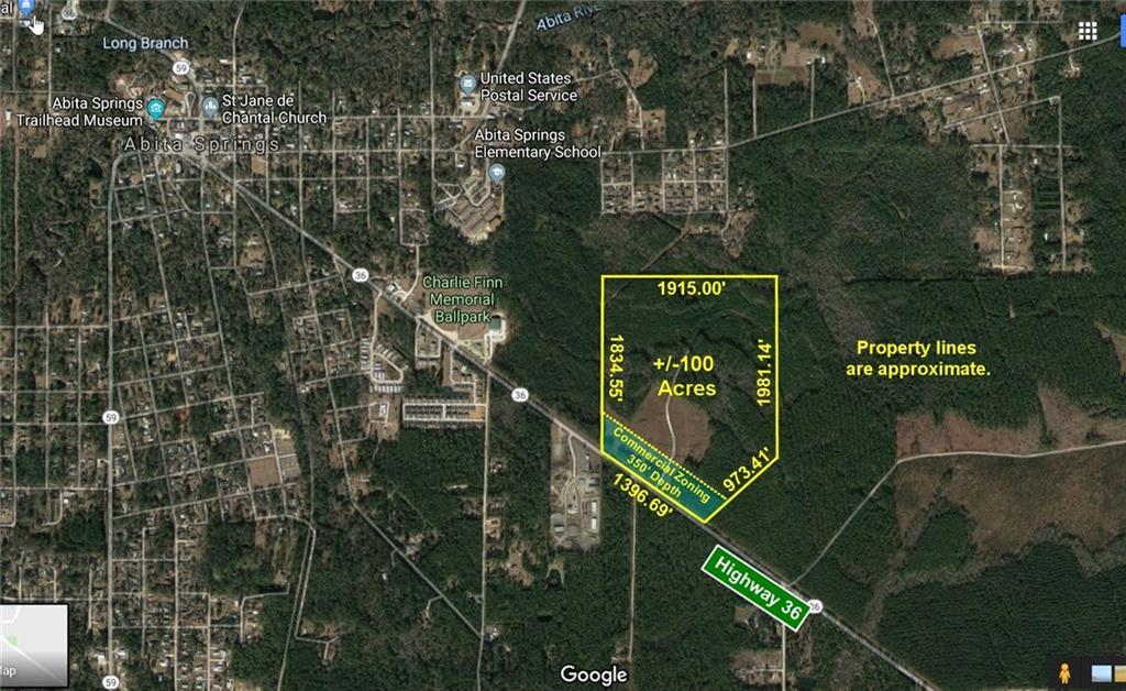 Terreno por un Venta en 23001 HIGHWAY 36 Highway Abita Springs, Louisiana 70420 Estados Unidos