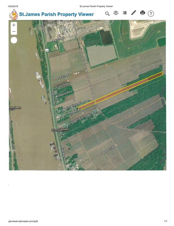 Land for Active at TBD HAYDEL Street Convent, Louisiana 70723 United States