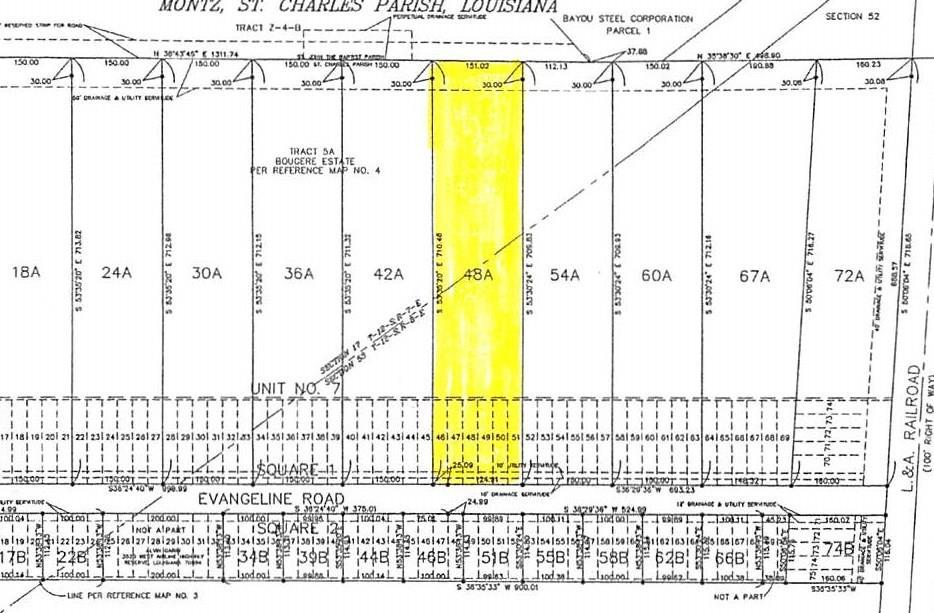 Land for Active at 965 EVANGELINE Road Montz, Louisiana 70068 United States