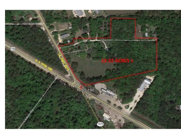 Land for Active at HWY 190 & 1077 Highway Covington, Louisiana 70433 United States