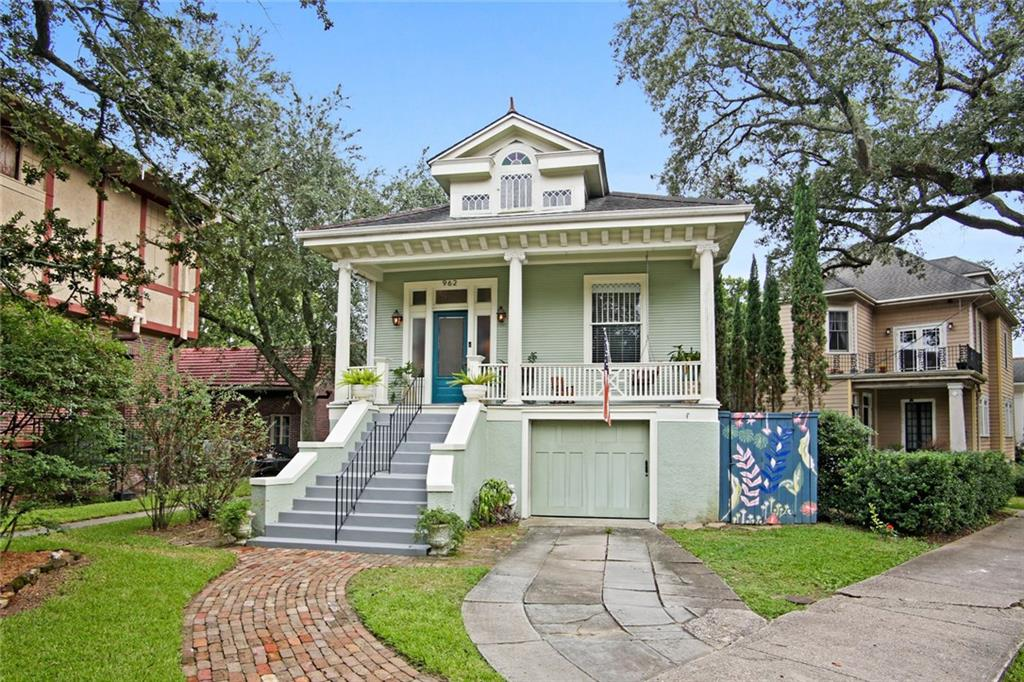 Stunning City Park home in an amazing location! Greek Revival home, filled with historic charm, soaring 11 ft. ceilings and ample natural light. Beautiful chef's kitchen with double ovens and attached sunroom/dining room over looking backyard. Deep lot with huge backyard and deck ideal for entertaining. Finished raised basement with large family room, and in-law suite that is currently an income-producing airbnb. Solar panels, updated electrical, plumbing and HVAC. Walk to the Bayou or City Park!