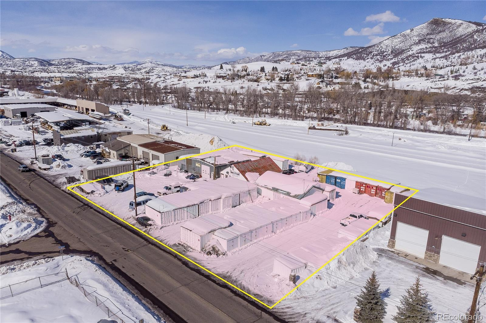 PRICED TO SELL! Commercial property for sale minutes away from downtown Steamboat Springs, consisting of 2 parcels totaling 0.58 acres. Existing uses for the property include a motorcycle shop and two warehouses. Current rental income from existing tenants is $2500/month. Seller is currently in the process of removing the PODS business. Property is zoned industrial and offers several different possibilities, some of which include maintaining the existing businesses/tenants, a construction business, office space and live/work use. Don't let this great opportunity pass. Priced below current assessed value.www.SteamboatSpringsCommercial.com