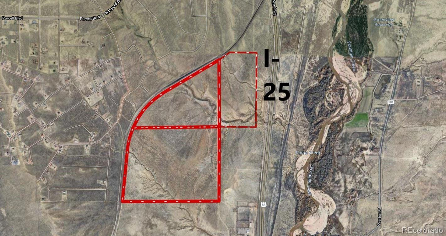 This 378 acre property is located near new development on the north side of Pueblo. Plenty of acreage for a new subdivision, or commercial properties. Located near I-25 frontage. Currently zoned A-1.