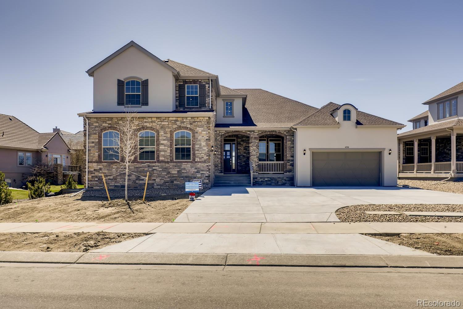 """Available March 2020!  The gorgeous new Chandler 2 story features 4 beds (main floor master), 3.5 baths, great room, main floor guest suite living & bedroom, kitchen, dining room, study, main floor laundry, loft, full unfinished basement for future expansion and a 2 + 1 car garages.  Beautiful finishes throughout.  Appliances include 42"""" professional built-in refrigerator & dispenser, dual ovens, dual dishwashers, 5 burner gas cooktop, wine cooler & microwave. This home has been thoughtfully designed to incorporate the latest in modern conveniences, technology and luxury - comfortable elegance.  Located on a spacious lot and backing to open space with some mountain views.  Come see why time and gain, this builder stands above the rest.  You will not be disappointed. Floor plan and room sizes subject to change. Design selections are completed."""