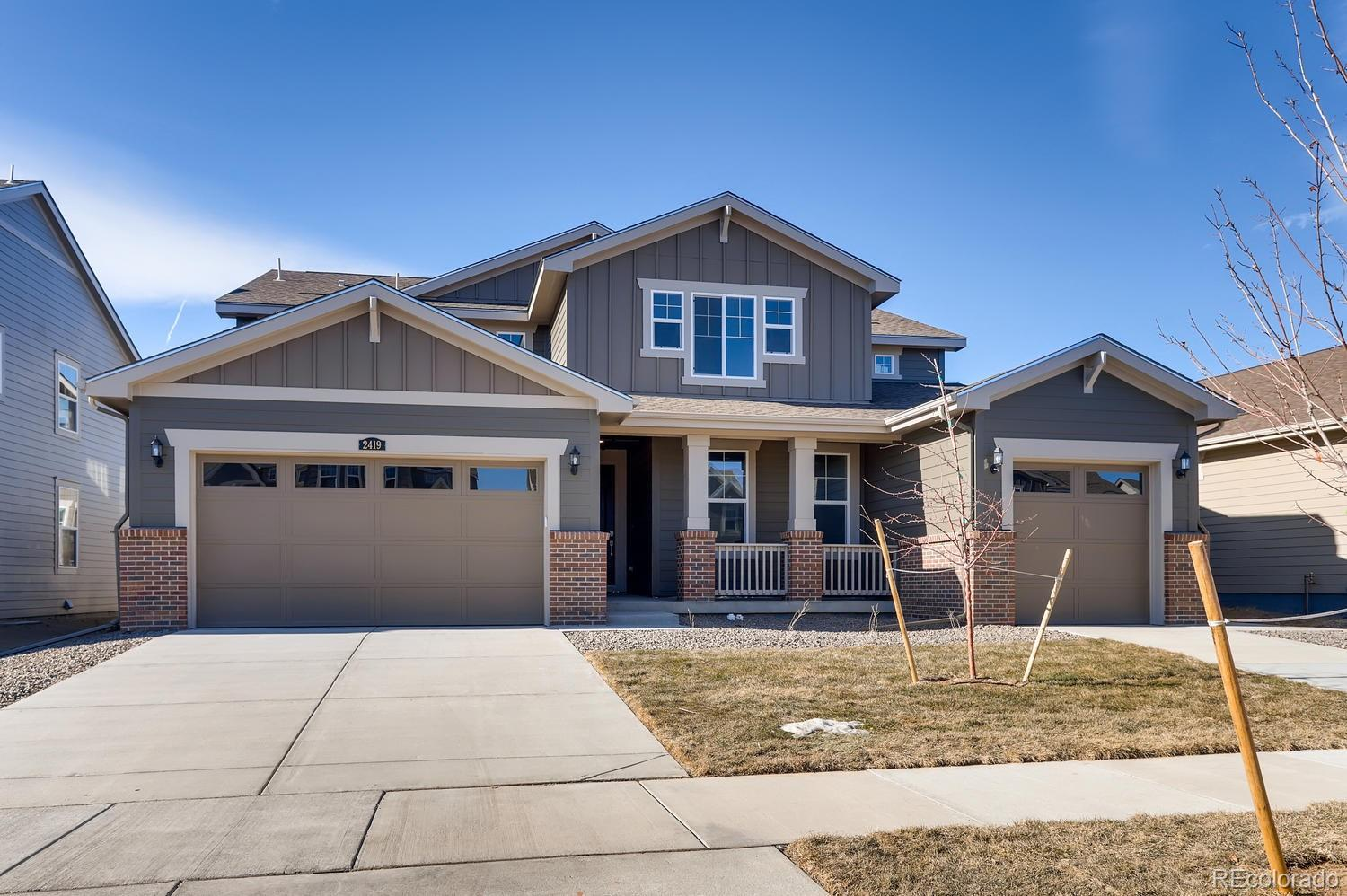 Available in January 2020! Colorado living at its finest! This stunning Superhome in the brand new Provenance community features a total of 6 beds & 4.5 baths - 5 beds/3.5 baths in the main home along with a great room, nook, spacious kitchen,  large loft AND 1 bed, 1 bath, kitchenette and retreat in the secondary suite.   Covered deck, extended hardwood, upgraded carpet and tile.Separate entrances and garages for each along with access from the main home to the secondary suite. Faces East. An open basement is waiting for future expansion. Conveniently located close to shopping, dining, entertainment, transportation and acres of parks/trails and other great outdoor opportunities. Easy commute to Downtown Denver, Boulder, Golden and beyond. Don't wait - this home will sell quickly. Lives large and luxurious.