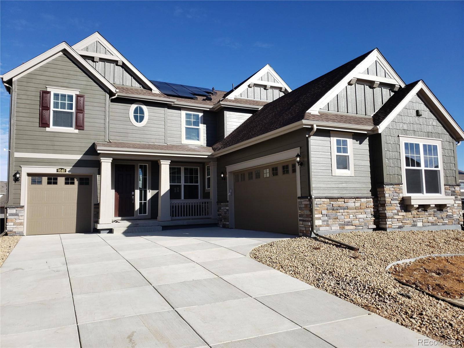 Available January 2020. Corner homesite, south/west facing! This stunning Prescott 2-story features the ever coveted mountain views of the Boulder Flat Irons & Stanley Lake. Spacious with 5 Beds, 4.5 Baths, Dining Room, gorgeous kitchen & great room plus 2nd floor bonus space, 3 car split garage & unfinished basement. Beautiful cool tones with White cabinets, rich hardwood floors throughout the main level & Quartz countertops gives this home a modern & fresh interior. Main level guest suite, study & dining room makes this home, the perfect home in the ever popular Candelas Community. The location of this home is just 1 block from the connected bike & walking paths, 2 long blocks from the K-8 community school & walking/biking distance to the pool & fitness center. This is a must see home, as it is priced to sell quickly. Each home has been thoughtfully designed to bring luxury & the latest technology & trends for comfortable elegance. Energy Star 3.0 certified & HERS rating TBD.