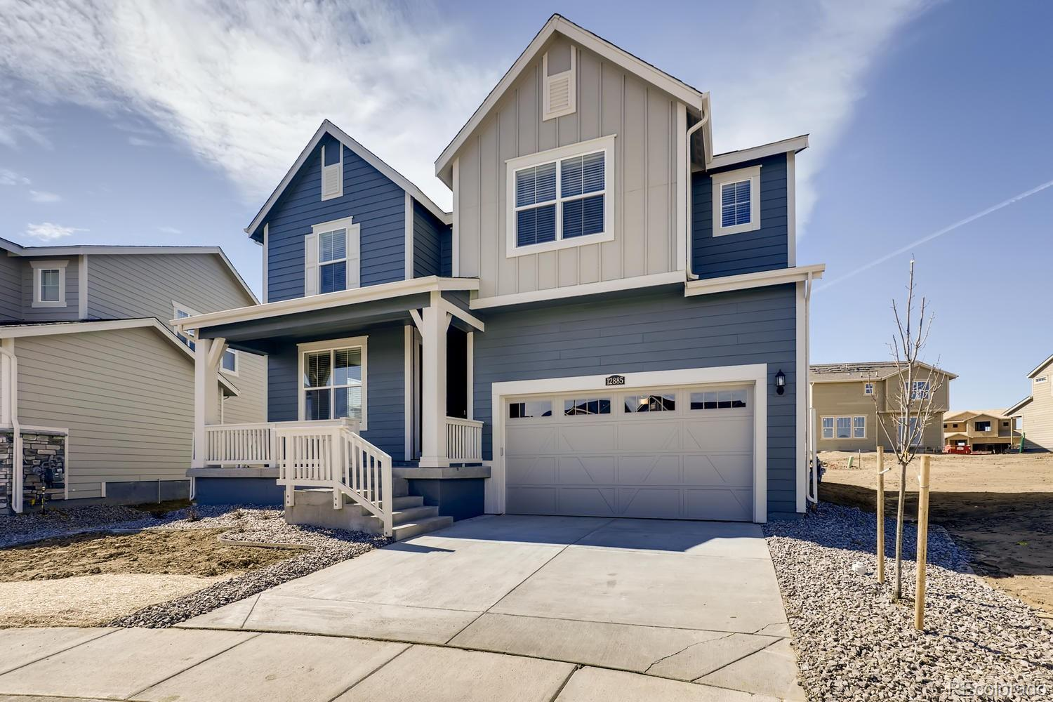 Available March 2020! Located on a quiet cul-de-sac, this stunning new Chelton 2-story features, 4 beds (3 main home and 1 next gen), 4 baths (3 main home & 1 next gen),  laundry (both main & nextgen), living room (nextgen), great room (main home), kitchen (both main home & nextgen), unfinished basement for your future expansion, 3 car garage, covered rear deck and more. Lennar provides the latest in energy efficiency and state of the art technology with several fabulous floorplans to choose from. Energy efficiency, and technology/connectivity (Wifi Certified, Alexa & Ring Door Bell) seamlessly blended with luxury to make your new house a home. Barefoot Lakes offers single family homes for every lifestyle. Close to dining, shopping, entertainment and other amenities. This community features extensive trails, wide open spaces, and twin sapphire lakes all set against backgrounds of deep blue skies and Colorado's breathtaking sunsets!