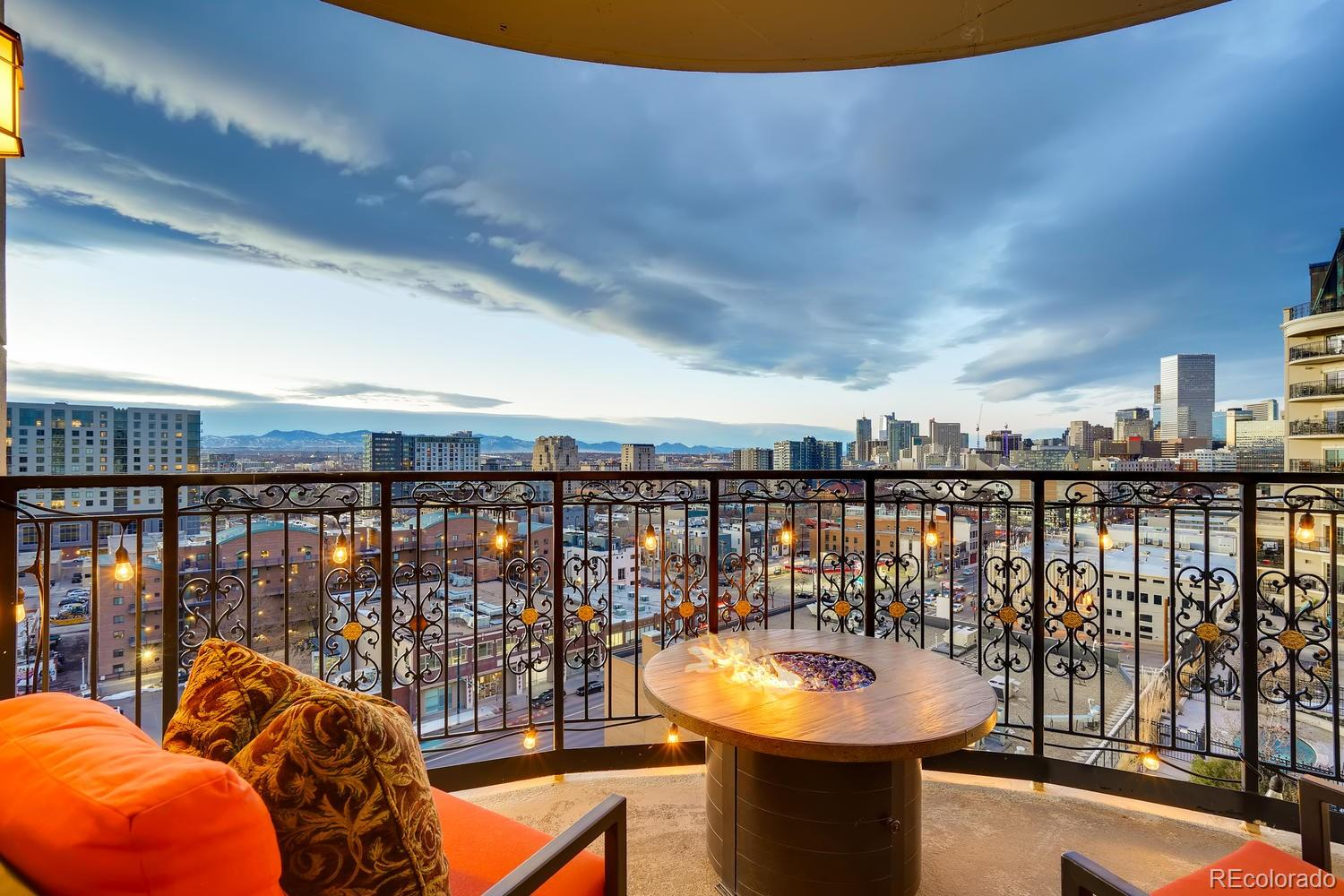 Welcome to the Beauvallon, renowned Elegance in Downtown Denver. This unit has been fully remodeled and includes 2 reserved parking spaces located in a heated secure garage. This well thought out floor plan with new carpet and tile floors includes a large gourmet kitchen stainless steel appliances, stunning cabinetry with granite countertops. Unit was taken to the studs and everything in the unit is new and upgraded.  The second bathroom shower has been expanded to include a rain shower head and body spray heads with unlimited hot watered included in HOA fees. Unit includes, home office, media room, laundry room washer and dryer included. Step out onto your own private covered patio to enjoy the warm glow of the modern gas balcony fire pit.  The spacious formal dinning area is perfect to enjoy your panaramic mountain views and watch the city light up with its twinkling skyscapers.  Retreat to your private master bedroom with a private balcony and large private spa like master bathroom. Wall Closet/cabinet in master bath room Currently installed and In Place Not Included.