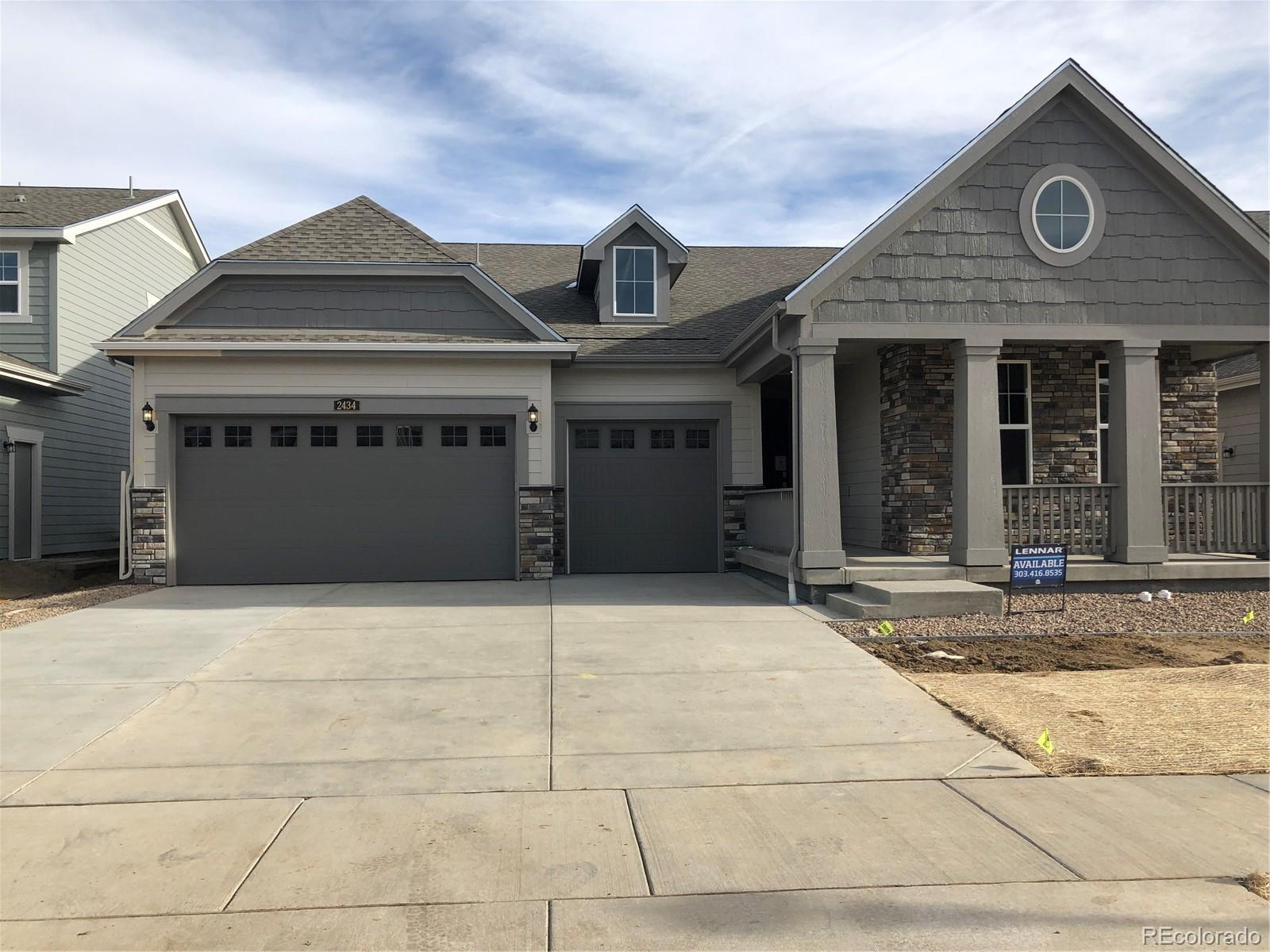 """Available February 2020! Colorado living at its finest! Backing to open space, this gorgeous Somerton ranch style home in Provenance features 4 beds, 3 full baths, great room, formal dining room, spacious kitchen, & 3 car garage. Hardwood floors & carpet & tile, large breakfast nook and so much more. The large master has a 5-piece bathroom including separate shower, garden tub & huge walk-in closet. The gorgeous kitchen is open & features stainless appliances, island & 42"""" cabinets. An open basement is waiting for future expansion. Conveniently located close to shopping, dining, entertainment, transportation and acres of parks/trails and other great outdoor opportunities. Easy commute to Downtown Denver, Boulder, Golden and beyond. Don't wait - this home will sell quickly. Lives large and luxurious. Come see why time and again Lennar stands above the rest. Welcome Home!!!"""