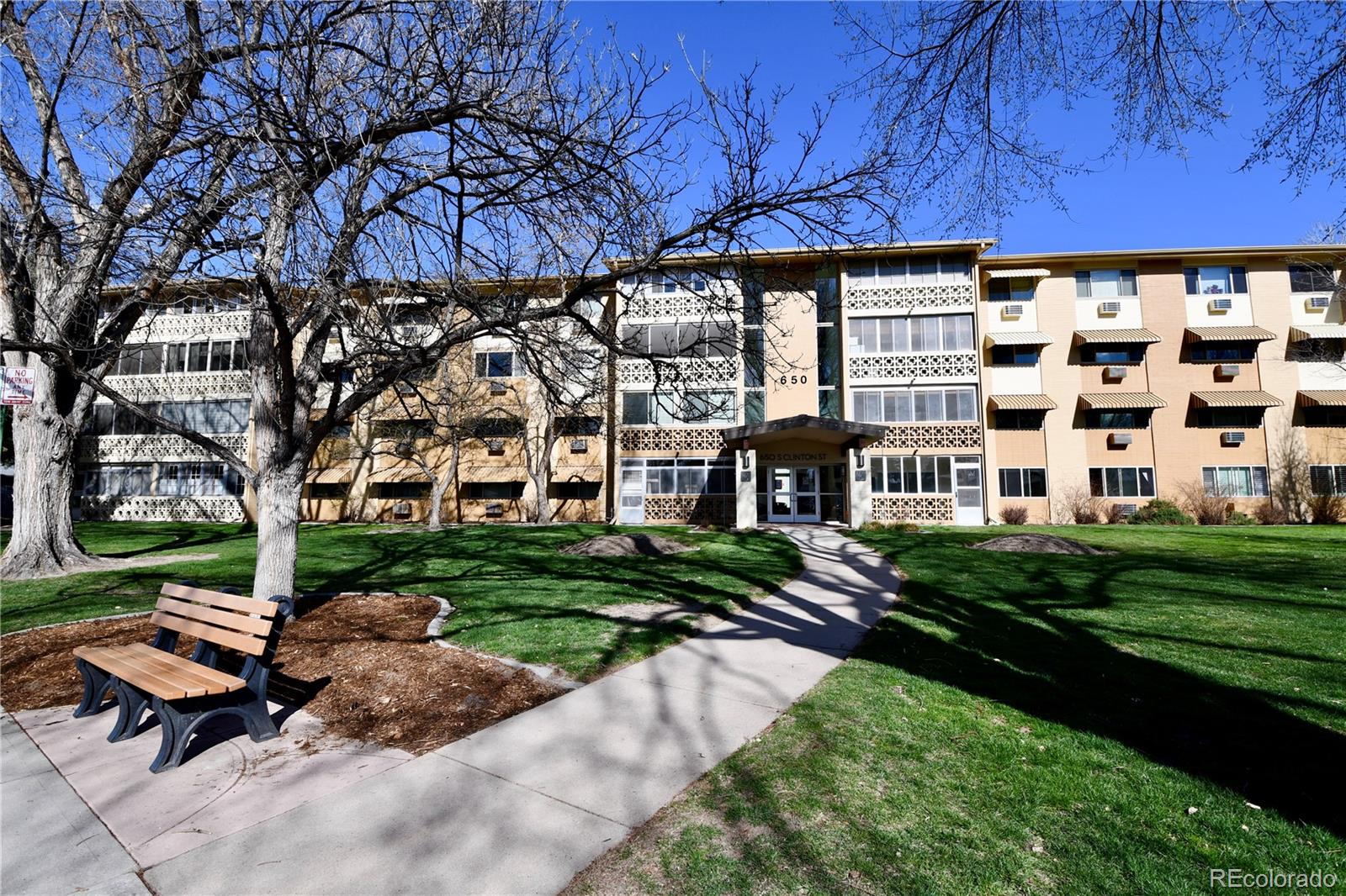This is your opportunity to own one of the largest penthouse units in the Windsor Gardens 55+ Community. This home boasts 2 master bedrooms, 1 additional bedroom, 3 baths, formal dining room, a large living room, a kitchen, a large pantry/storage room, and an enclosed sunroom to enjoy Colorado's gorgeous sunsets. Use of 2 storage units (11D and 9D) and 2 garage spaces (#81 and #69) are also included. Owners in the Windsor Garden Community enjoy a variety of amenities included in the monthly HOA fee some of which include a large community center, fitness, center, indoor and outdoor pool, golf course and pro shop, classes, auditorium, restaurant, gardens. Welcome Home to Denver's premier active adult community!HOA fee includes property taxes, common area lawn, and landscaping, common parking, common snow removal, community center fee (includes all available classes), capital improvement and capital equipment, gas/electric (heat for units and common area electricity), insurance on the common areas, operations, trash removal, water/sewer.Please take a look at the video walk through tour found at https://youtu.be/TRTyIcQ-6qc. Tour this home without getting in the car!