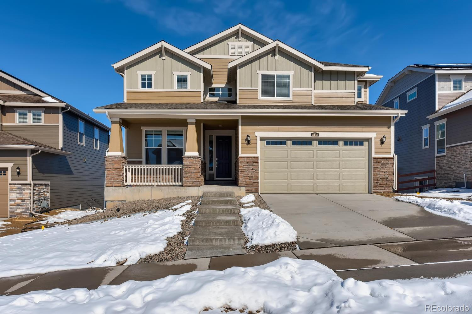 Available March 2020! This stunning Ponderosa 2-story home features 4 beds, 3 baths, kitchen w/breakfast nook, greatroom, main floor study, loft unfinished basement and 2 car garage. Covered deck & window coverings. Offering a peacefulsetting, this home lives large. Colorado living at its finest! Experience all that Whispering Pines has to offer – from themiles of trails, clubhouse, future pool & more. Lennar has once again seamlessly blended and showcased the unparalleledbeauty of Colorado with the most innovative homes, energy efficient technologies & modern conveniences, bringing thebest of both worlds together. This amazing home thoughtfully combines both elegance and luxury, welcome home! Youwill not be disappointed.