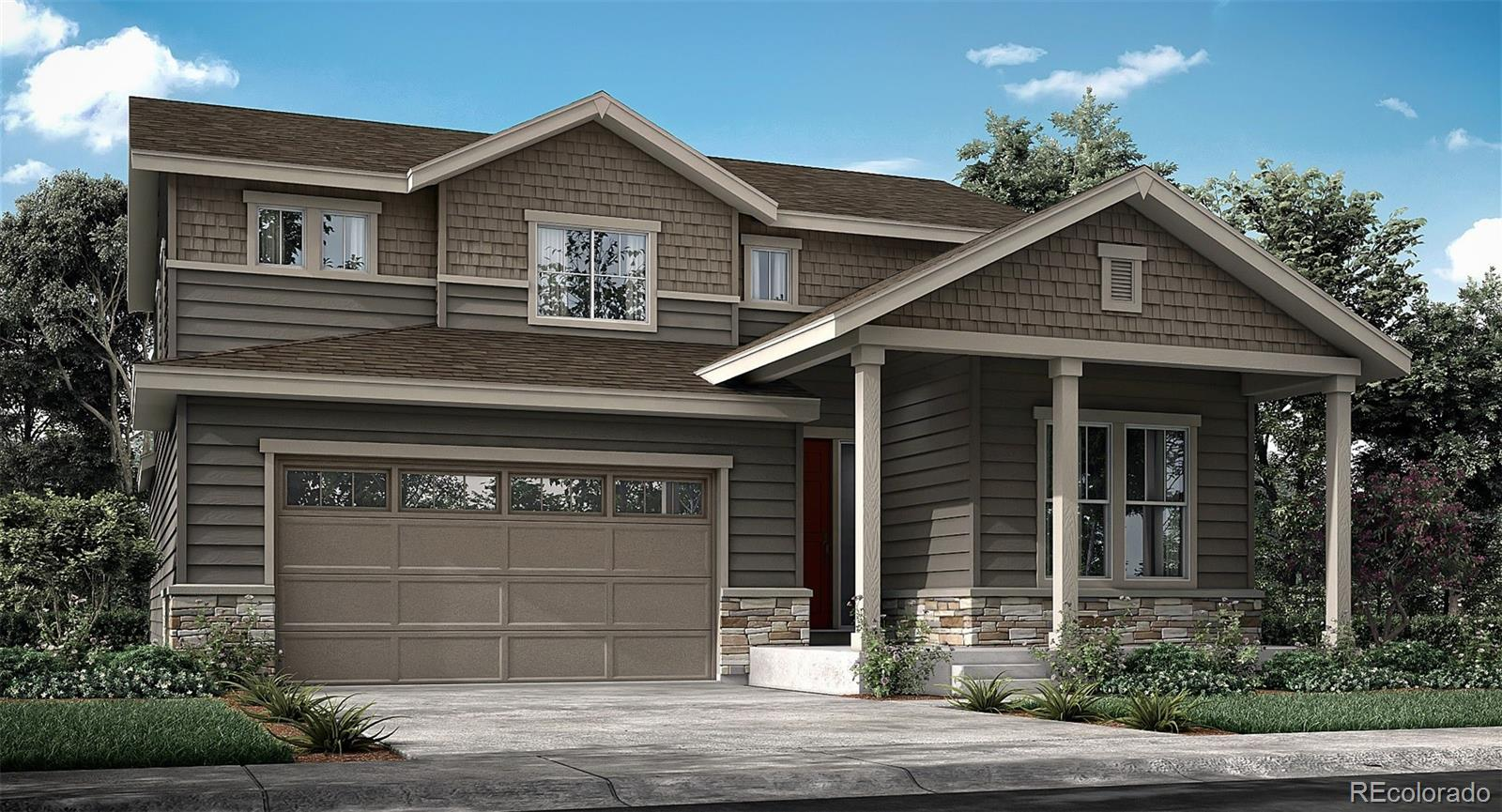 Available June 2020! This stunning Bristlecone 2-story home features 4 beds (3 upper / 1 main), 3 baths, main floorstudy, kitchen w/breakfast nook, great room, unfinished basement and 3 car garage. Stylish grey cabinets, white subway tile backsplash, Lyra quartz, light grey flooring, glass block fireplace tile and more. This brand new CalAtlantic/Lennar community provides the best of Colorado living. Lennar provides the latest in energy efficiency and state of the art technology with several fabulous floorplans to choose from. Energy efficiency, and technology/connectivity seamlessly blended with luxury to make your new house a home. What some builders consider high-end upgrades, Lennar makes a standard inclusion. You will not be disappointed. This community offers single family homes for every lifestyle. Close to dining, shopping, entertainment and other amenities. Come see what you have been missing. Welcome Home