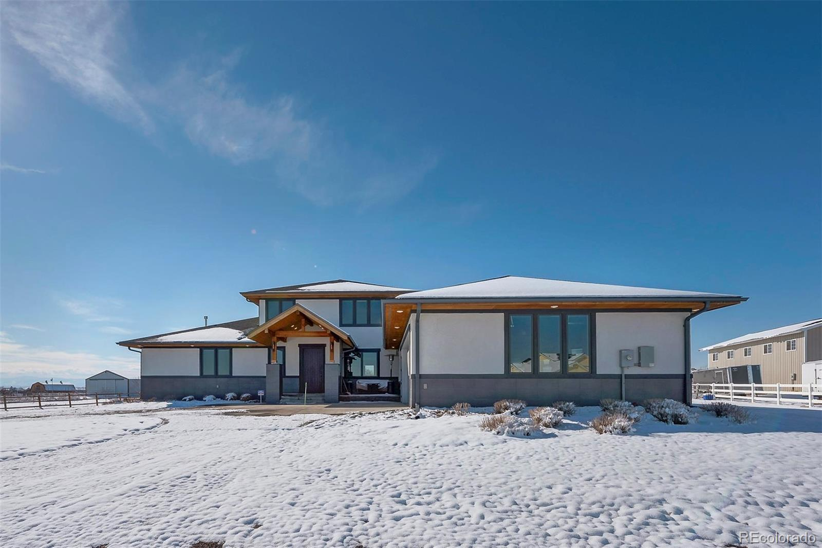 **OPEN HOUSE Saturday 2/8 12PM to 2PM**  This is a must see custom built home with no detail missed.  This home has an amazing open layout, huge kitchen, main floor master, 3 car finished and heated garage,  and all upstairs bedrooms have their own on suit bathrooms and walk in closets.  Do you have horses or do you want some land for activities and privacy?  If so, this home and property is for you.  Home includes smart home features, a secure room for valuables, 6 foot tall crawl space for storage, separate furnace and AC for each floor and many more features that you must see to believe.