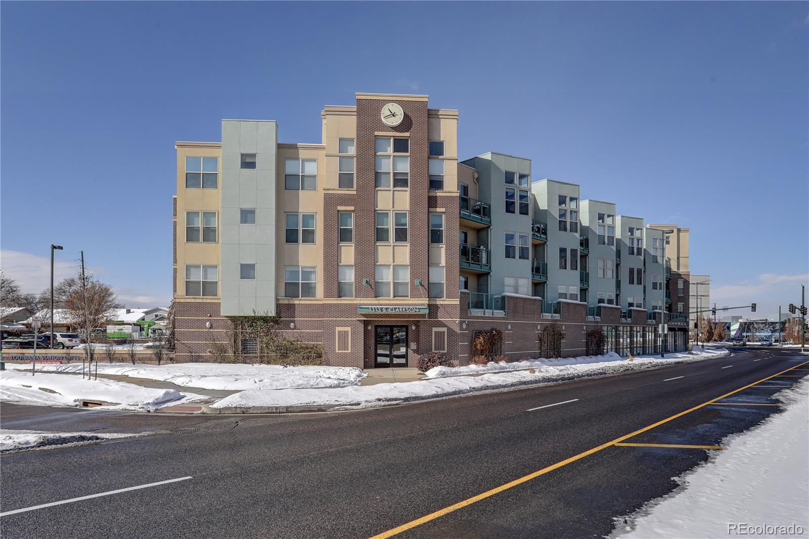 Location, Location , Location! Amazing Northeast facing END unit overlooking highway and light rail & RTD commuting around the metro area. Gorgeous Mountain & City views from the living area, the balcony! Updated and well maintained, the location doesn't get any better! Walking distance to Wash Park, Platte Park, South Pearl Street, Sushi Den, Park Burger, Izakaya Den, Uno Mas, Sweet Cow, The Village Cork, Stella's, Yardbird, Whole Foods and South Broadway! The light-rail & RTD is across the street for easy access to downtown and the Tech Center! This unit comes with RARE 2 parking spaces one outside and one in the garage. Washer & dryer in the unit and a storage unit 22! Come check it out, it's sure to go quickly!
