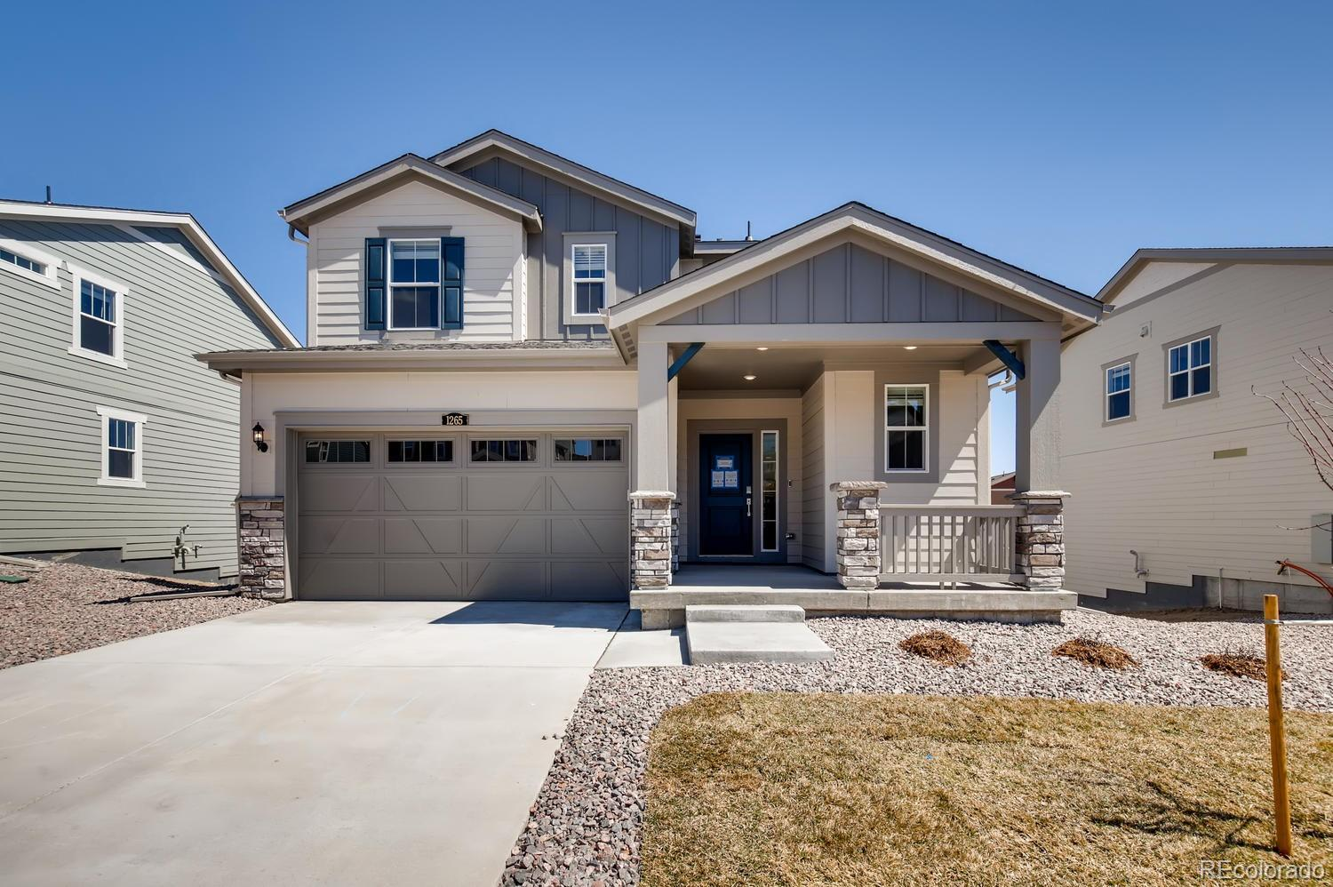 Recently reduced to 400K! One of the last homes in Phase 1 at Gold Creek Valley! Rare garden level two story with a full-unfinished basement! Enjoy upgraded white cabinets, granite countertops in kitchen and master bath, all stainless steel appliances included! 10'x12' uncovered deck off the dining room is perfect to enjoy coffee and Colorado's morning Sun! Three bedrooms and laundry located on the upper level, open floor plan with room to grow. This home will not last! Close to community park and Gold Creek itself! Come tour today!  Estimated completion April 2020.
