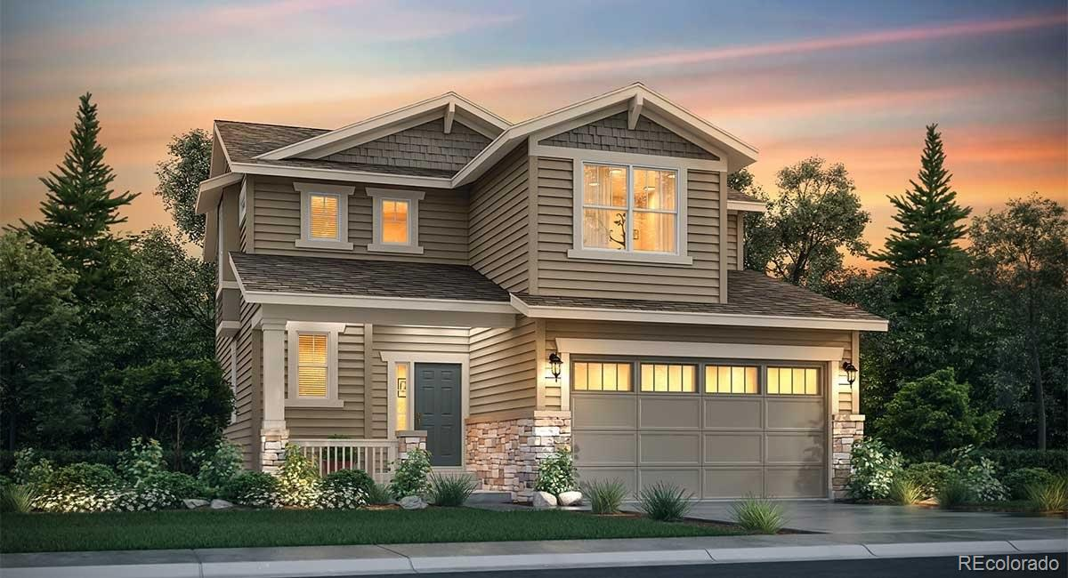 Available July 2020! This gorgeous Evans 2-story in Turnberry features 4 beds, 2.5 baths, kitchen, great room, unfinished basement for future expansion and a 2 car garage. Spacious kitchen with a large center island, pocket office off the mudroom (with bench), grey cabinets, Silver Falls granite counters and Pecorino Luxury Vinyl Plank Floors. Lennar providesthe latest in energy efficiency and state of the art technology with several fabulous floorplans to choose from. Energyefficiency & technology/connectivity seamlessly blended with luxury to make your new house a home. What some buildersconsider high-end upgrades, Lennar makes a standard inclusion – over $35,000 value. This community offers single familyhomes for every lifestyle. Close to dining, shopping, entertainment and other amenities. Easy commute to DIA, DowntownDenver, Golden, Boulder & beyond. Come see what you have been missing today! Don't wait– this community will sell outquickly! Features a spacious kitchen w/large island, pocket office off mudroom w/bench, gray cabinetry, Silver Fallsgranite, white subway tile and more. Welcome Home!
