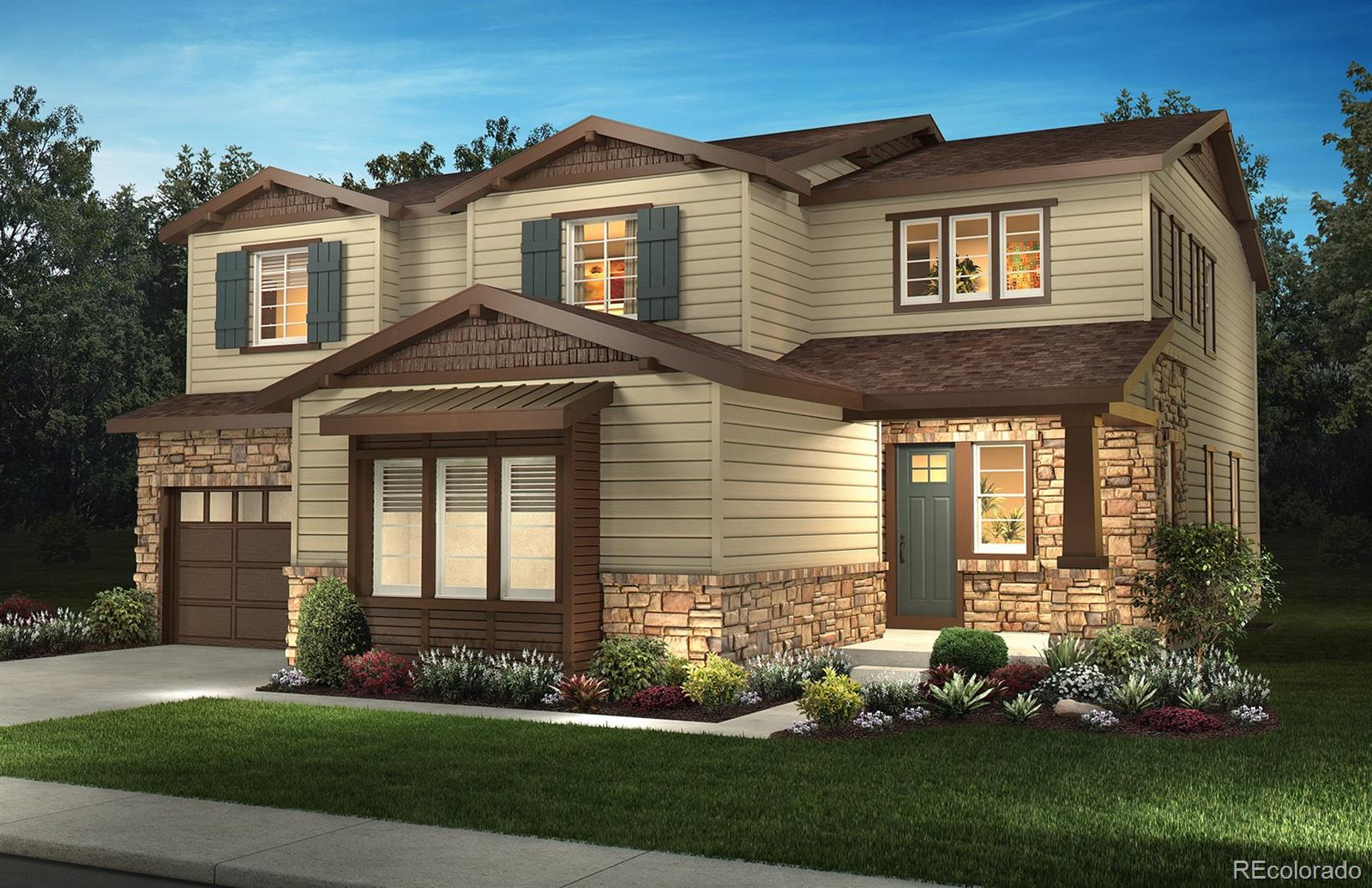 Available July 2020!  Gorgeous Pinyon 2 story features 4 beds (3 upper / 1 main), 3 baths, great room, kitchen w/morning room, upper laundry, 2 + 1 car garages and more.  Stunning design finishes including a main floor bedroom and full bath, kitchen with island, walk-in pantry and morning room, great room with fireplace, optional master bathroom shower, second floor laundry room with sink, garage service door and more. Design finishes include Black Forest Oak Qntiqued wood-style laminate floors, tile floors in the bath and laundry rooms, slab quartz Concerto kitchen perimeter counters with a full backsplash, slab quartz Calacatta Classique kitchen island counters, and Classic Portrait Maple Cotton cabinetry. Close to dining, shopping, entertainment and other amenities.  Easy commute to Southlands, DTC, Lone Tree and beyond.  HOA fees included in property taxes.