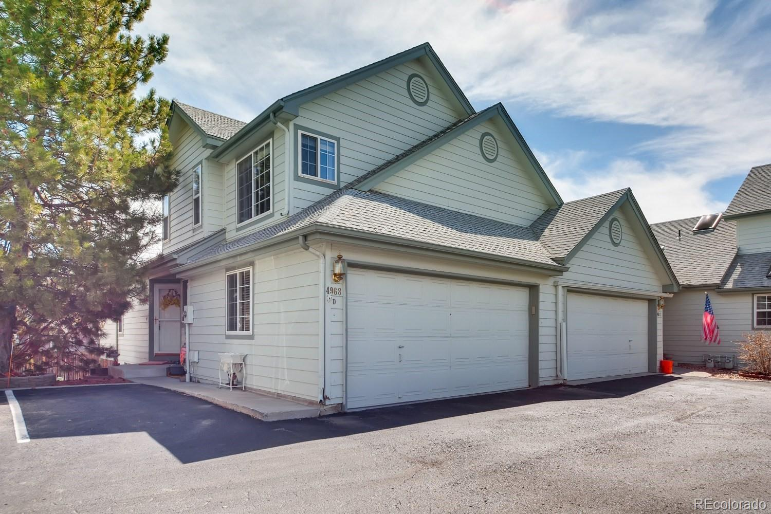 Pre-sale Inspection report available.   3D tour at  https://listing.virtuance.com/listing/4968-s-nelson-street-d-littleton-colorado/   Updated and immaculate 2 story in very well maintained gated community situated on a prime lot location. Newer appliances and granite!  Updated bathrooms! Open floor plan with formal dining room and plenty of storage.  Huge master suite with flex space for home office, home gym or nursery, in addition to the spacious walk in master closet.  Vaulted ceilings and very light and bright.  Flex space in basement great for additional living space, play room, game room, craft room or home office.  Spacious trex deck for entertaining.  Attached 2 car garage.  Many upgrades including Remote control for furnace, new patio doors with shades, 2017 hot water heater, custom window coverings, and more!