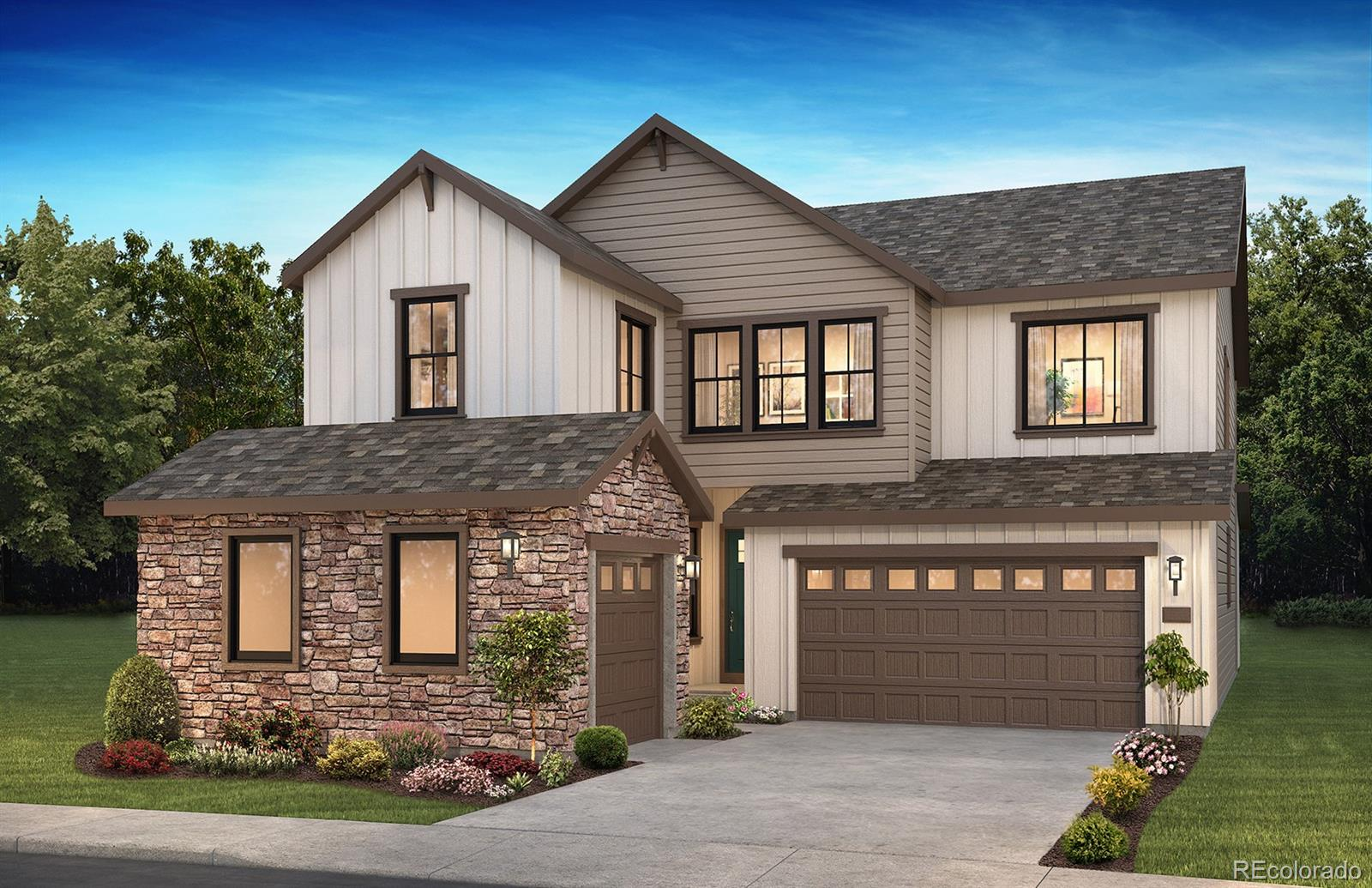 Available August/September 2020!  Located in the brand new Solstice community on a corner home site, this stunning Open Sky 2-story home features 5 bedrooms (4 upper / 1 main), 4.5 baths, loft, great room, dining room, kitchen, flex room, unfinished basement and 3 car garage.  Beautiful design finishes and upgrades throughout include large kitchen with island, walk-in pantry &  GE Cafe stainless steel appliances; Craftsman stair rails; Great room with cosmo fireplace; Owner's entry with bench; Optional master bath with shower, tub and barn door; Covered patio and garage service door; Second floor laundry with sink and so much more. Energy Star Certified. This stunning home thoughtfully combines elegance and luxury and energy efficiency. Don't miss your opportunity. Welcome Home!