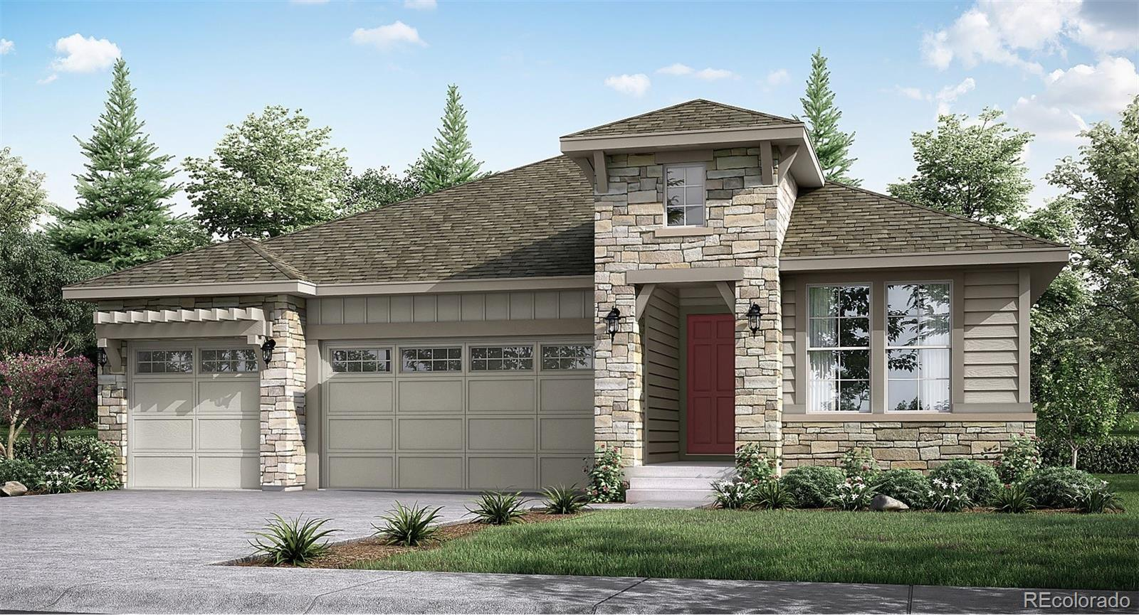 """Anticipated completion June 2020. Beautiful Hamilton Ranch plan by Lennar in this 55+ community features 3 beds, 2 baths, great room, kitchen & unfinished walkout basement for future expansion, 3 car garage, extended covered deck and more! Beautiful finishes and upgrades include stained maple cabinets (kona), granite countertops, 12x24 tile in baths and  extended 9"""" wide vinyl plank flooring.  Lennar provides the latest in energy efficiency and state of the art technology with several fabulous floorplans to choose from. Energy efficiency, and technology/connectivity seamlessly blended with luxury to make your new house a home. Inspiration offers single family homes for every lifestyle. What some builders consider high-end upgrades, Lennar makes a standard inclusion. Conveniently located close to shopping, dining, entertainment, and more - amenities abound. Easy commute to Downtown Denver, Lonetree, Centennial, the DTC and beyond."""