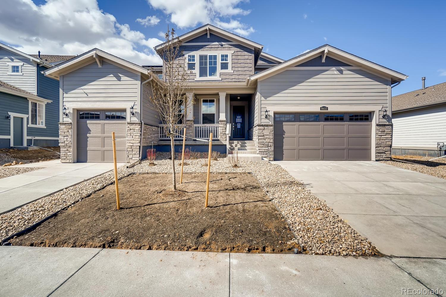 This stunning Next-Gen Superhome is designed to be two homes in one. Backs to Rocky Flats Wildlife Refuge on a beatuiful homesite – enjoy wildlife watching from your covered back deck or private deck from the master bedroom or simply taking in the amazing Flatirons views!  A total of 7 beds & 4.5 baths. The main home features 5 beds, 3.5 baths, great room, stunning kitchen w/huge island, loft and more. Attached private apartment suite features a separate entrance & 1 car garage, living area, kitchenette w/refrigerator & microwave, master suite & large 3/4 bath and a secondary bedroom. A perfect space for guests or extended family. Beautiful finishes and upgrades throughout make this home feel modern and fresh. This home has it all! Great Location! Energy Star 3.0 certified and HERS rating TBD.