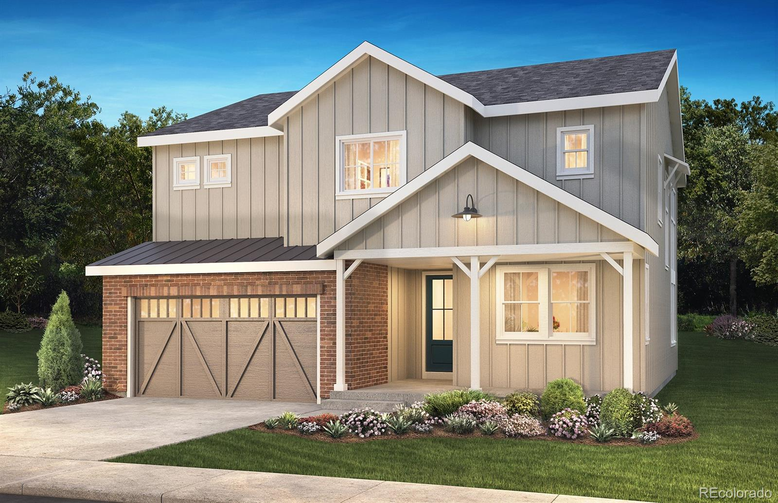 """Available July 2020! This gorgeous Corbett 2 story in The Canyons features 4 beds (3 upper / 1 main), 3 baths, loft, upper laundry, great room, dining area, kitchen, 3 car garage (2 + 1 tandem), unfinished basement and more. Beautiful design finishes and upgrades include 36"""" GE Cafe™ stainless steel gas appliances; Kitchen with island and walk-in pantry, 36"""" GE Cafe stainless gas appliances, Aristokraft: Winstead - Maple Flagstone cabinetry; Barn doors at study and master bath; Fireplace with floor to ceiling tile surround at great room; Craftsman iron stair rails; tile in all wet areas; upper laundry w/utility sink. This beautiful home thoughtfully combines elegance, energy efficiency and luxury. ENERGY STAR Certified Home. Don't miss your opportunity. Welcome Home!"""