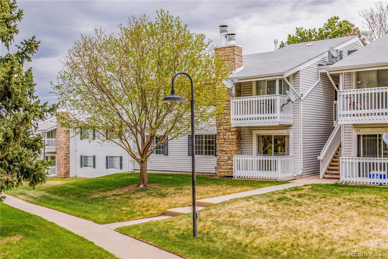 One of the best Locations in this sun-filled ground floor, corner unit in Brandychase! This West Facing condo is located on the Greenbelt and is steps to the Outdoor Pool and Tennis Courts!  Stainless Steel Appliances, Granite Counters, and Newer Cabinetry! Updated and ready for you to Move In and Enjoy. In Unit Laundry Room and Plenty of Closet Space with Additional Storage in the Detached Garage. Reserved Parking Space is Conveniently Located right next to the building. A 1 Mile Drive to the Florida Station light Rail and Easy Access to the I-225 Corridor make this the Perfect Property!