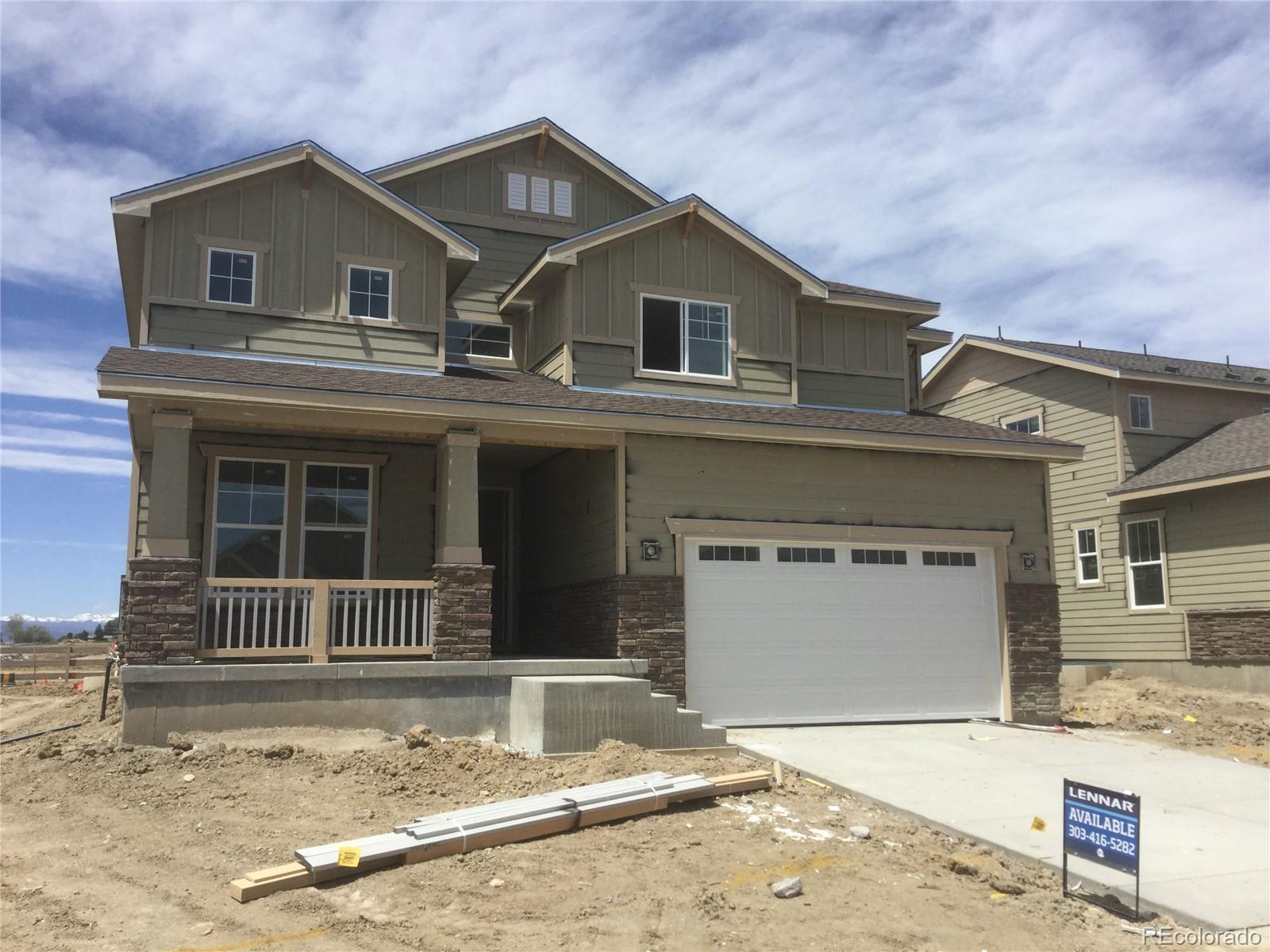 Available July 2020! One of the best homesites in the community. This stunning Ponderosa 2-story home has a Western facing backyard with great mountain views and open space.  Featuring 4 beds, 3 baths, spacious loft, main floor study, kitchen w/breakfast nook, great room,  unfinished basement and 2 car garage. Beautiful upgrades and finished including Slate cabinets, glass block backsplash, White Storm quartz counters, extended Delfino vinyl plank flooring, upgraded carpet and bathroom tile and more.  Palisade Park provides the best of Colorado living. Lennar provides the latest in energy efficiency and state of the art technology with several fabulous floorplans to choose from. Energy efficiency, and technology/connectivity seamlessly blended with luxury to make your new house a home. What some builders consider high-end upgrades, Lennar makes a standard inclusion. You will not be disappointed. This community offers single family homes for every lifestyle. Close to dining, shopping, entertainment and other amenities. Come see what you have been missing. Welcome Home!