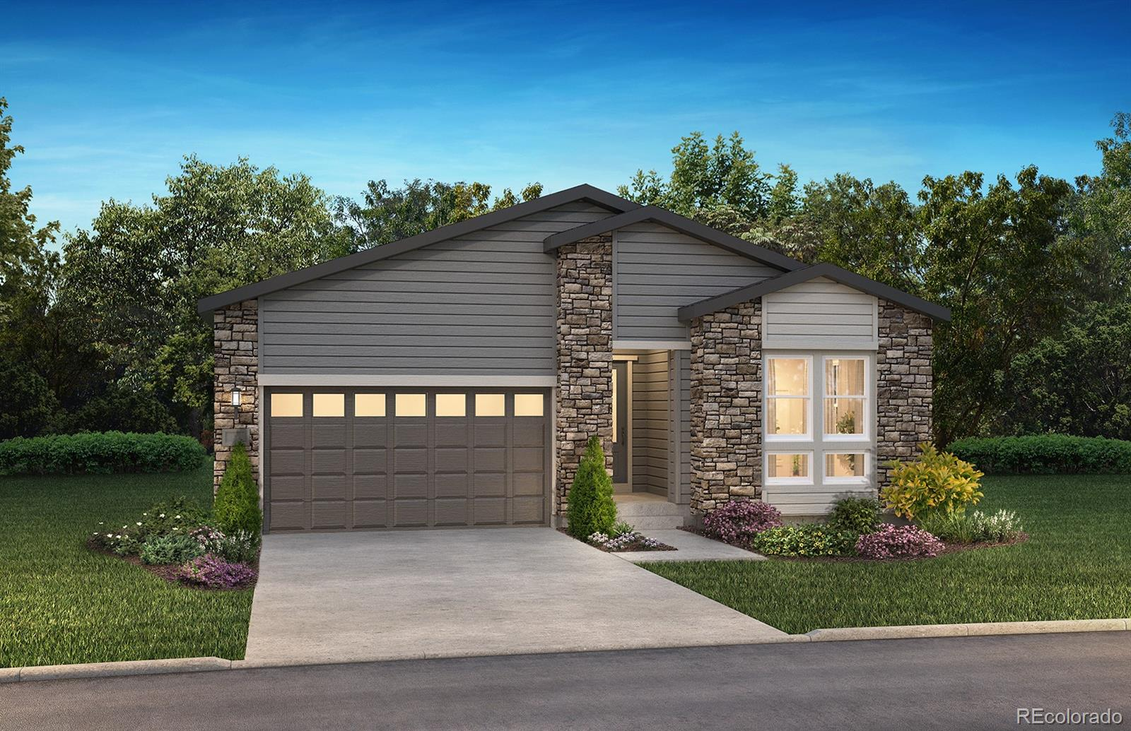 Available October / November 2020. This gorgeous Traditions ranch plan in The Canyons features 2 beds, 2.5 baths, great room, kitchen, study, full unfinished walkout basement, 3 car garage and more. Beautiful designer finishes and upgrades including 10' ceilings and 8' doors, great room w/Cosmo fireplace w/tile srround to the ceiling; kitchen including walk-in pantry, GE Cafe stainless appliances, Aristocraft Purestyle stacked cabinets in Glacier Grey, and white quartz counters; owner's entry/mudroom w/built in bench, cubbies & hooks; Luxury vinyl plank flooring, Craftsman style stair railing and more. Enjoy warm summer evenings on the covered patio off of the great room.  The Canyons offers single family homes for every lifestyle and thoughtfully blends luxury, energy efficiency and functionality.  Don't miss your opportunity. Welcome Home!