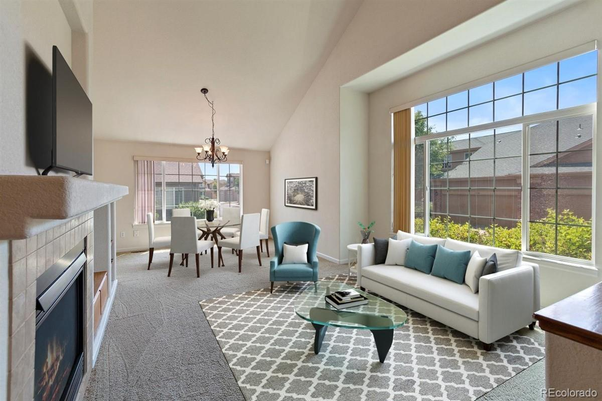 Family Room ~ Virtually staged
