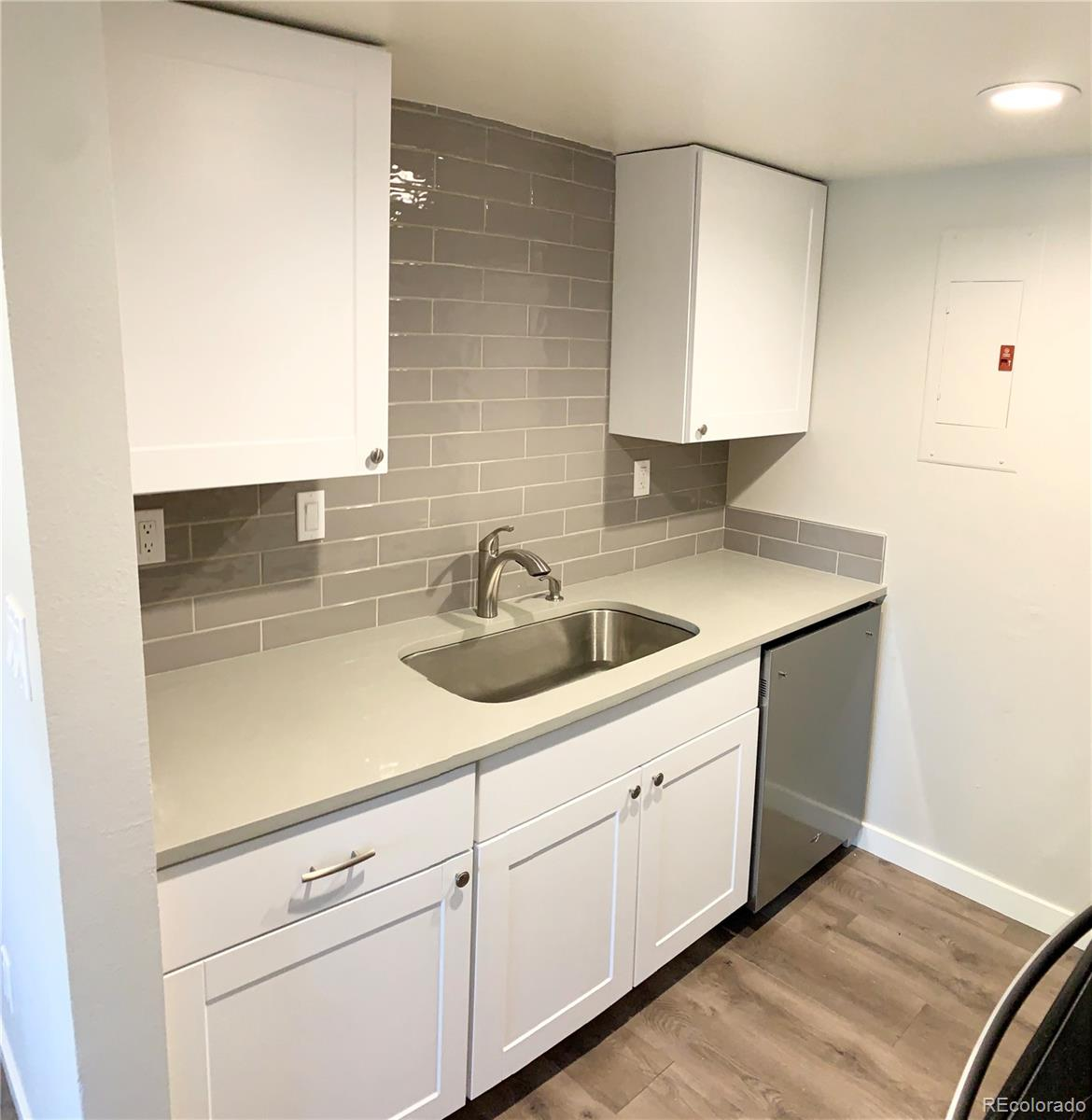 Agent owner.  Completely remodeled, everything is new!  Kitchen, bathroom, flooring, and  all appliances. Furnace, air conditioner washer, dryer and  water heater all new! Move in and enjoy! One car garage and one reserved space! Excellent location! Only minutes away from public transportation, light rail station, shopping and dining, Children's Hospital, University Hospital and the VA Hospital!