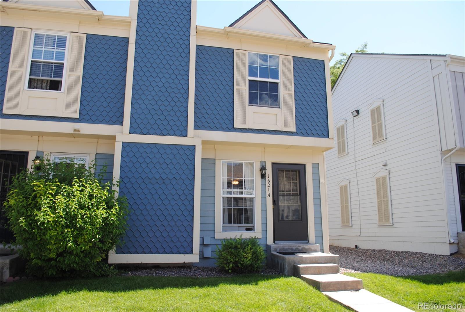 Desirable End Unit Townhome* 2 Bedrooms, 1 Bathroom* Fenced Back patio with gate leading to the greenbelt*Large living room with wood burning fireplace* Nice Dining area open to the kitchen and living rooms*All Kitchen appliances included as well as washer and dryer*Large Master Bedroom with privacy door to the bathroom*Huge closet*Upstairs Laundry*Reserved parking space with lots of Visitor parking*Under stair storage, Exterior storage closet plus negotiable shed*Close to Park, Restaurants and shopping*
